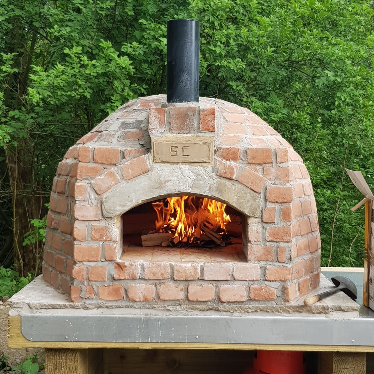 Pizza+Oven+at+Spring+Cottage+Cafe+in+the+Lancashire+Countryside