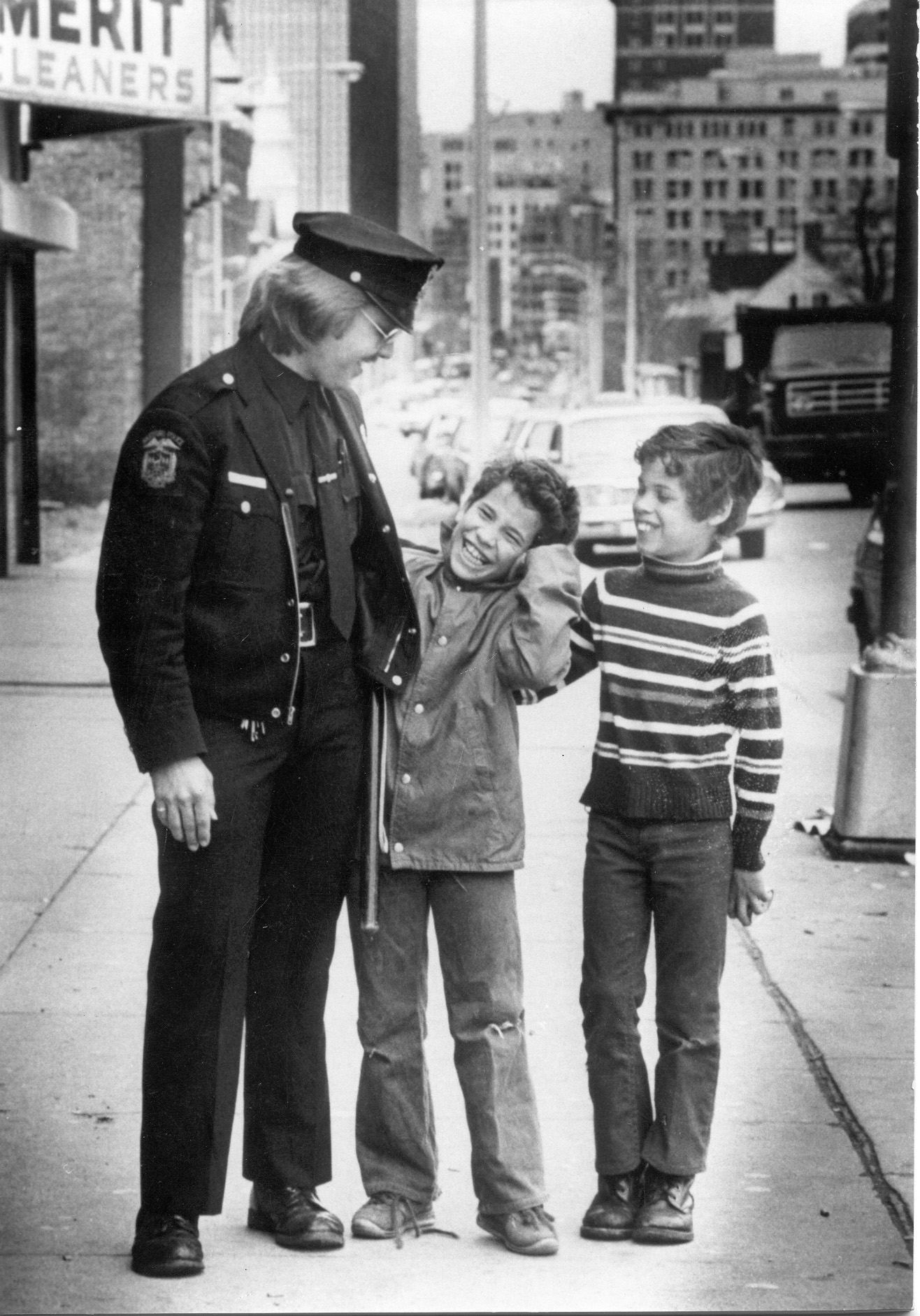 Officer with kids