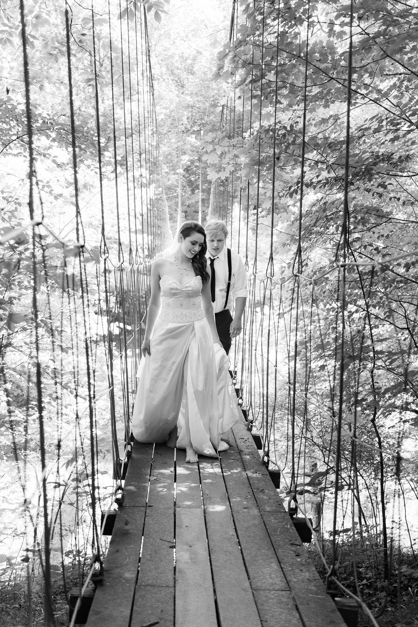 Couple on the Bride in Defiance,Ohio