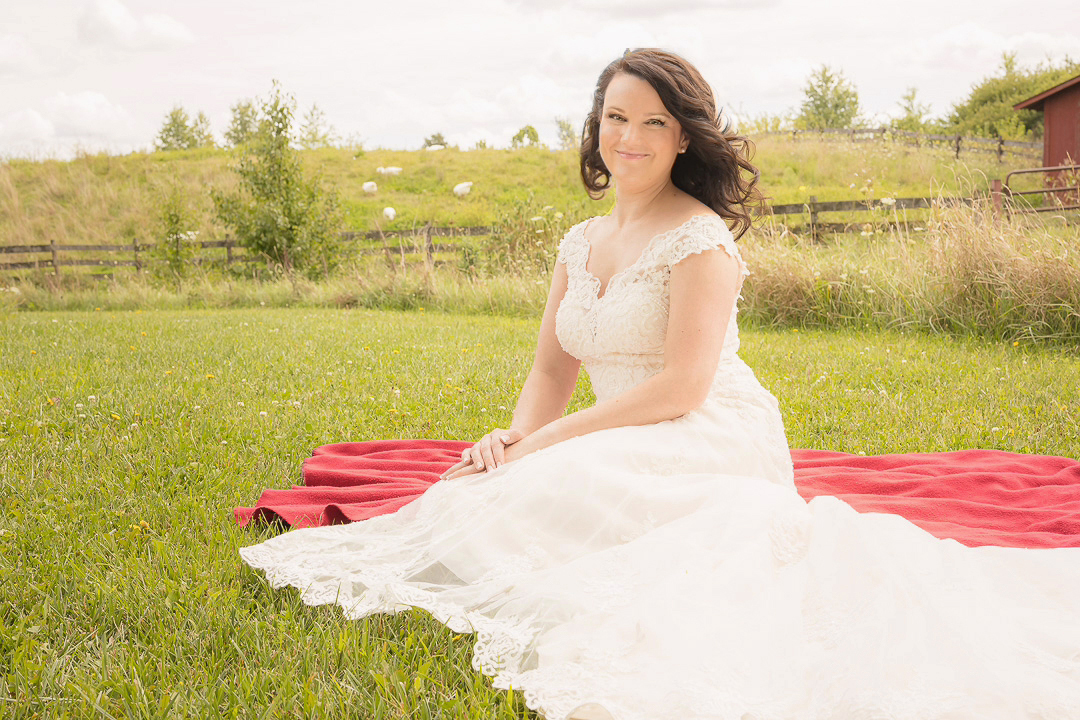 Bride at Sauder Village in Archbold, Ohio
