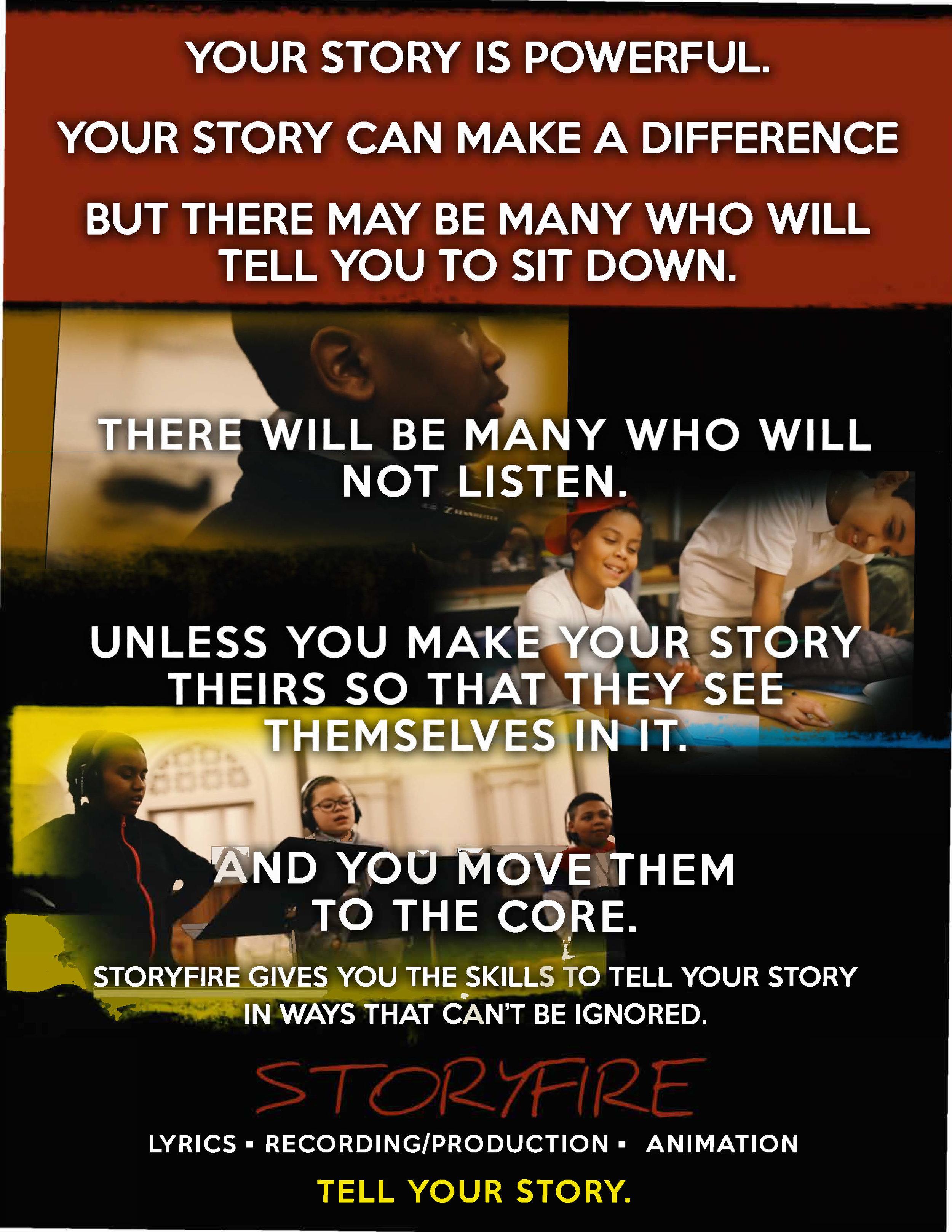 Download the StoryFire student flier