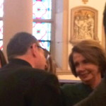 Loving the unlovely? With Nancy Pelosi in church.