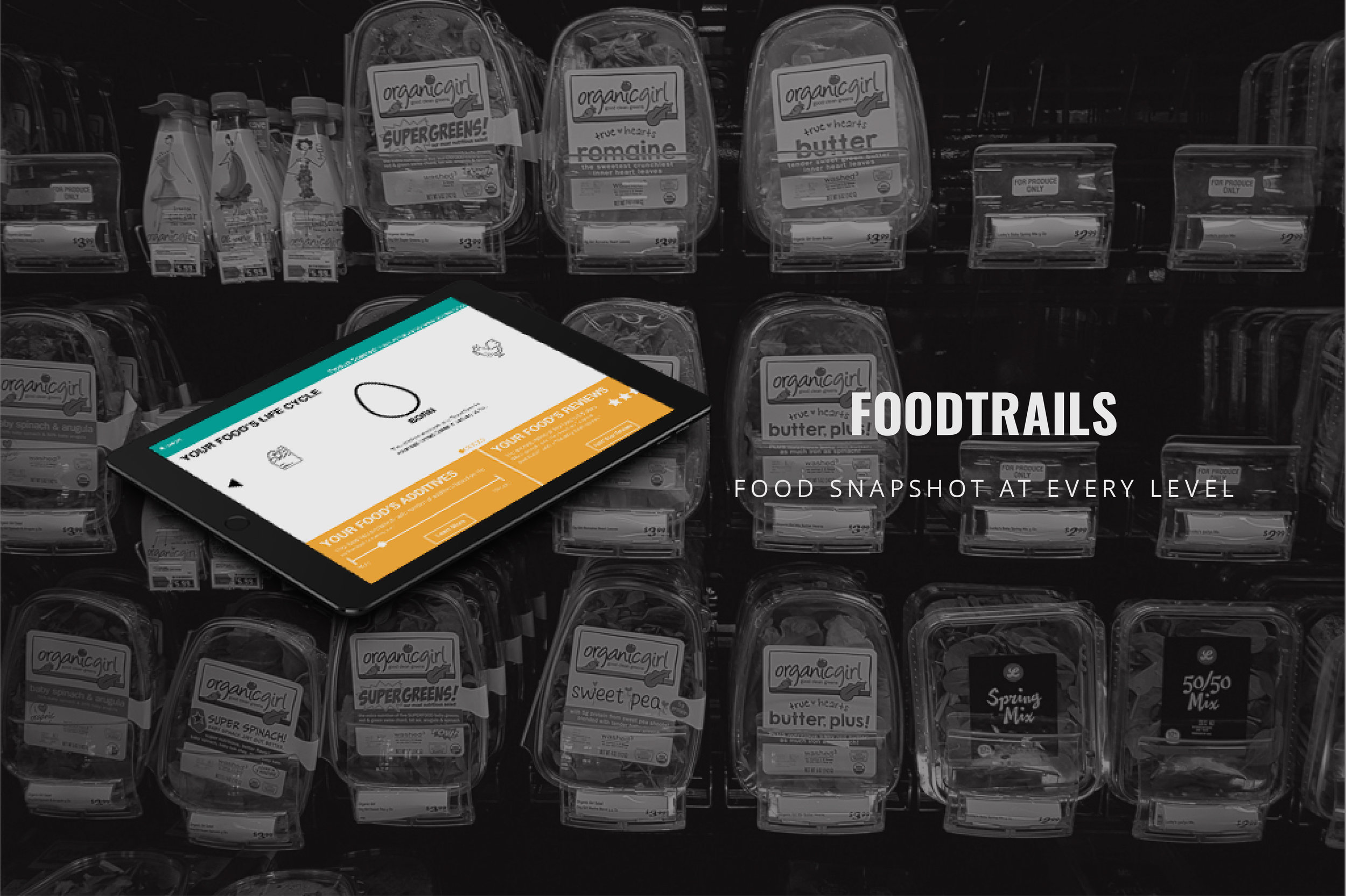 UX Research for Center for Food Safety - Synthesized consumer insights by using various research methods to enhance food safety and transparency by providing a food product snapshot at every level, @ Indiana University.