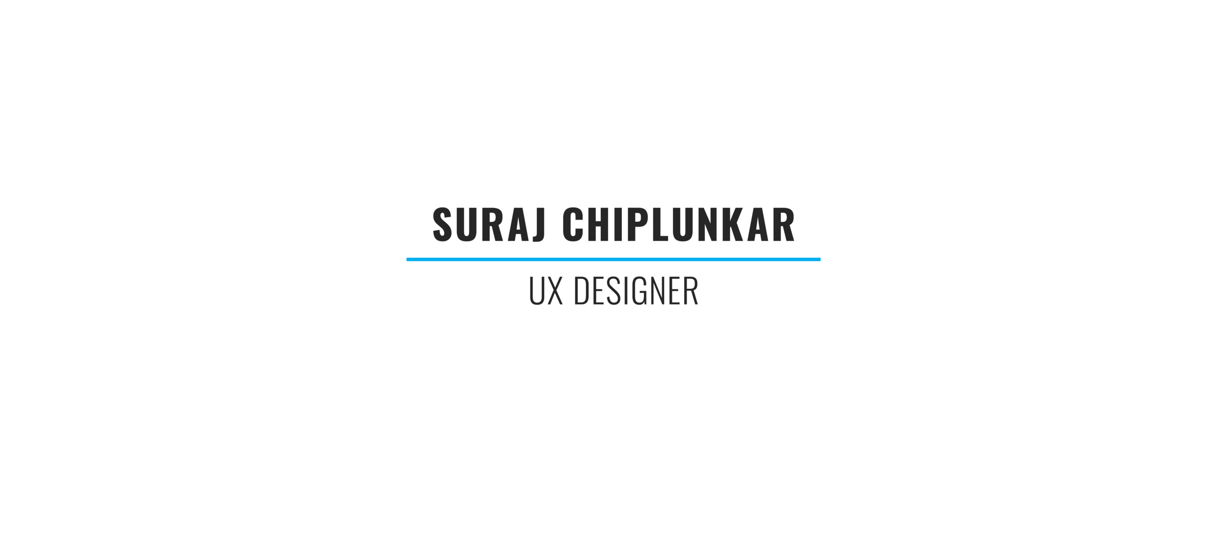 This image contains my name and my interest in UX Design opportunities.