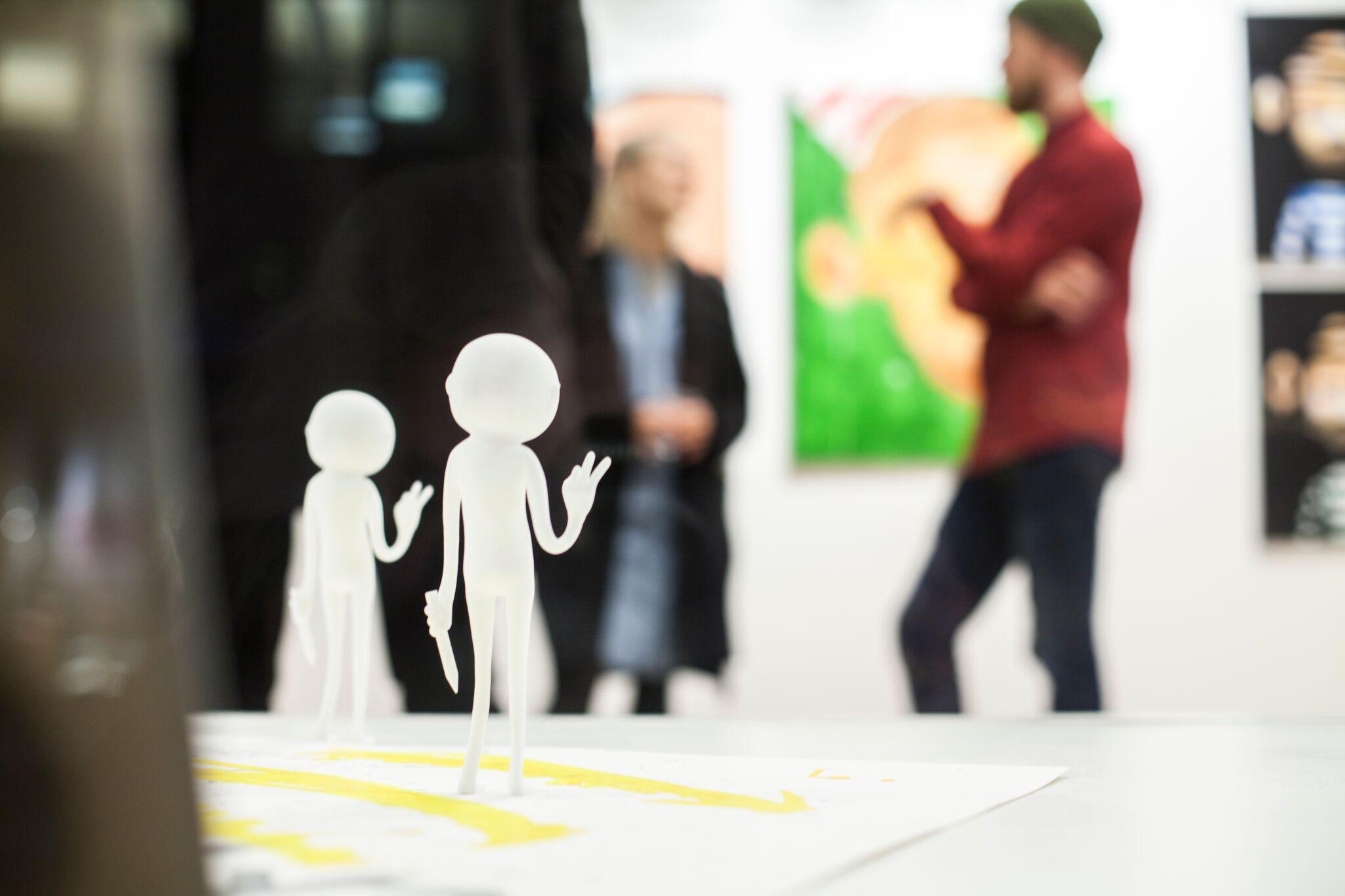 """Etterfulgt av en tur til Oslo sammen med Ståle Gerhardsen for å forevige utstillingsåpningen   """"DoubleRainbow"""""""