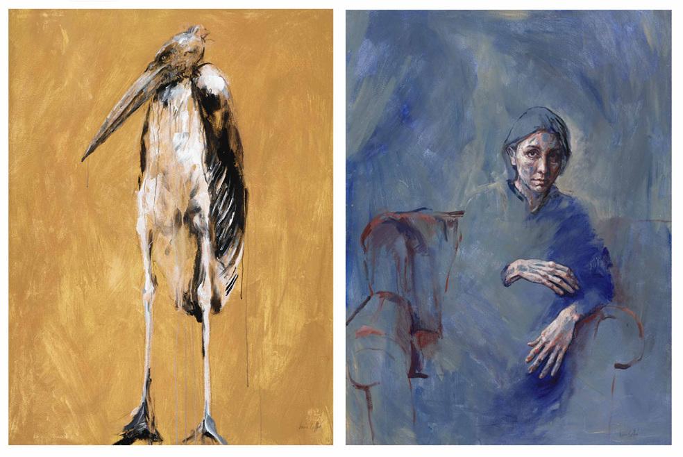 Marabou stork and Shirin