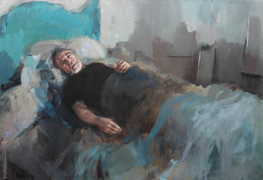 Turquoise blue, ('in bed' series)