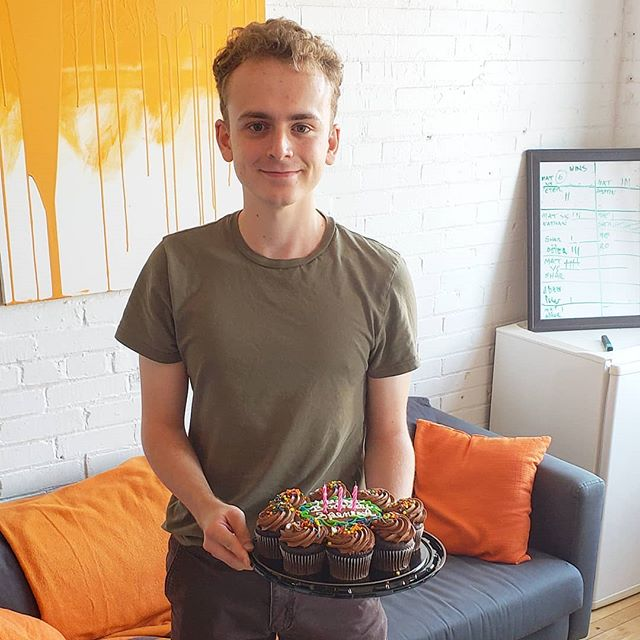 Happy birthday to our very own junior layout assistant Spencer. He can legally eat all the cupcakes he wants!