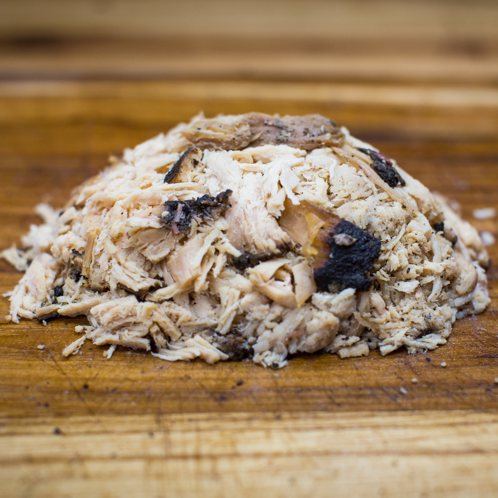 Smoked Chopped Chicken (1 lb): $ 15.00  1 lb feeds 3-4 people. Sauces included.