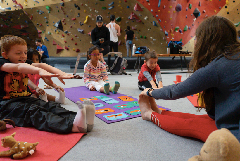 Brooklyn Boulders - Yoga + Open ClimbAges: Walkers to 4 yearsWednesdays (9/11-10/16)FREE TRIAL CLASS 9/4(Sign up here)10:00-11:00 AMLocation: Brooklyn Boulders (West Loop)