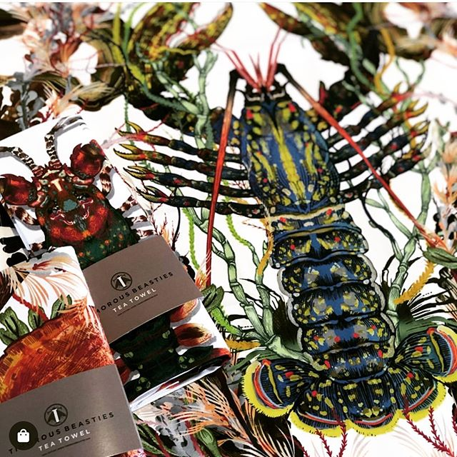 Curating the perfect coastal collection .. the world's your lobster! @timorous_beasties #coastalchic #beachhouse #wheretimestandsstill