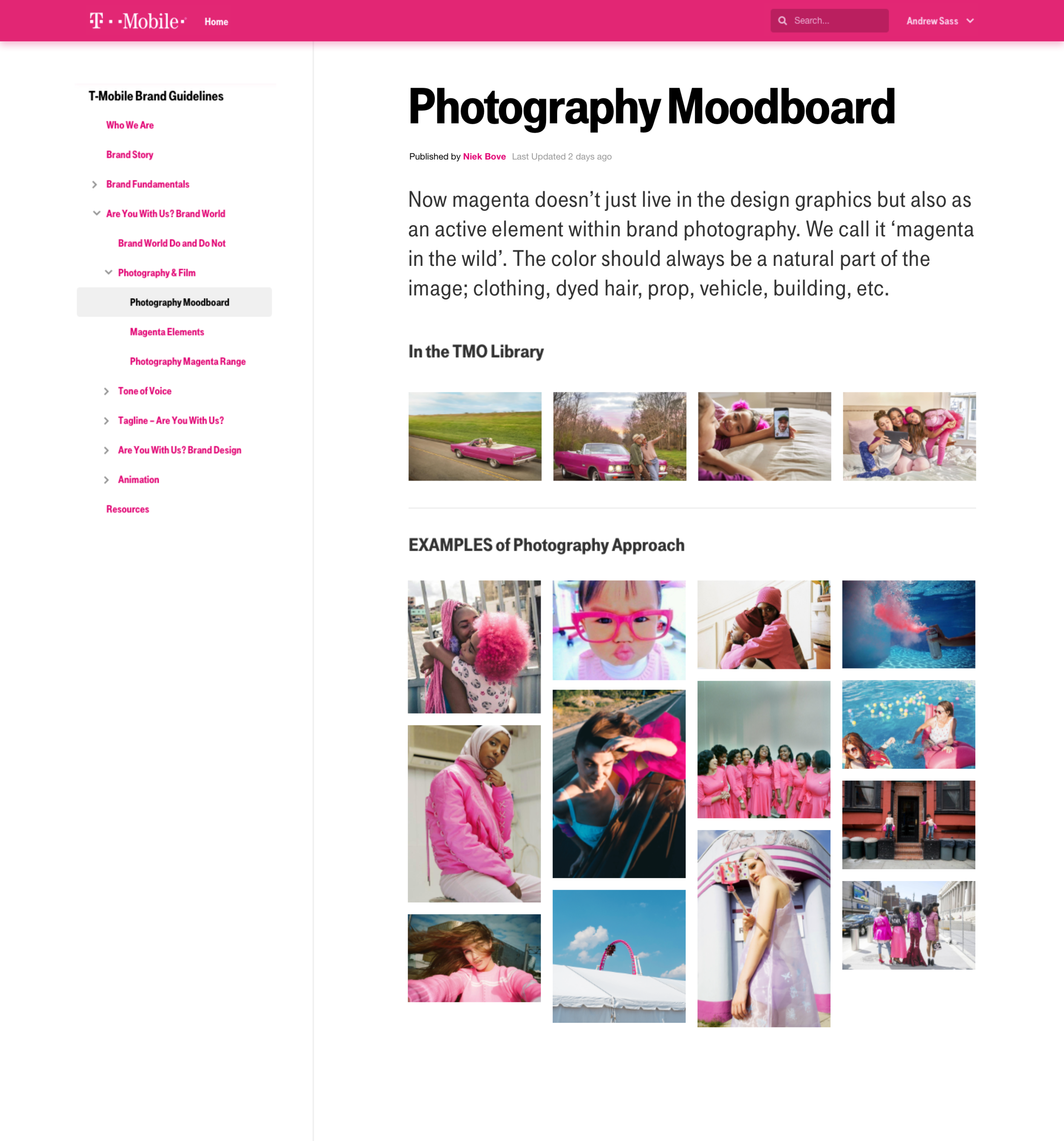 GLUE Photography page