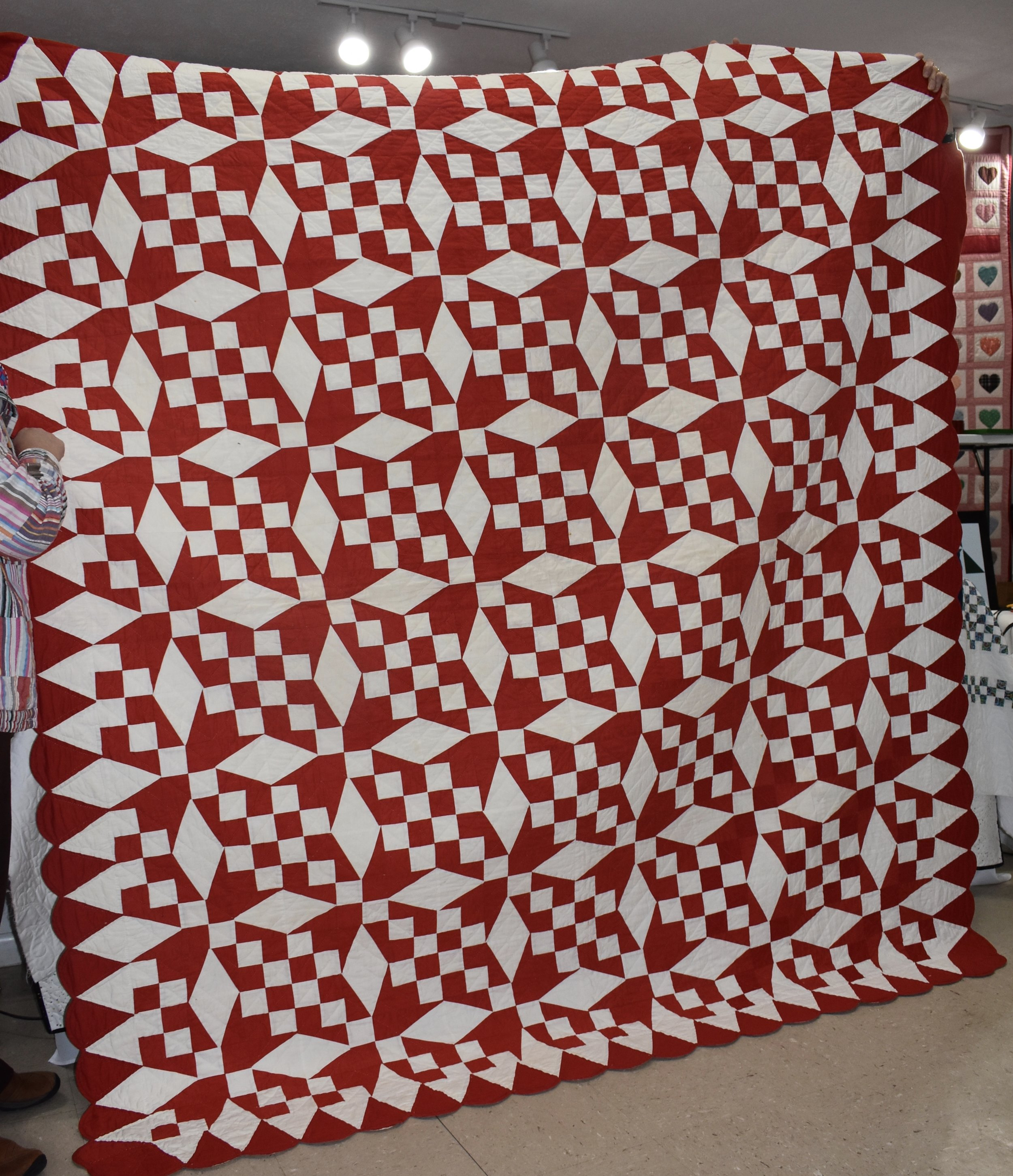 Anna Miller Quilt made by mother and church ladies