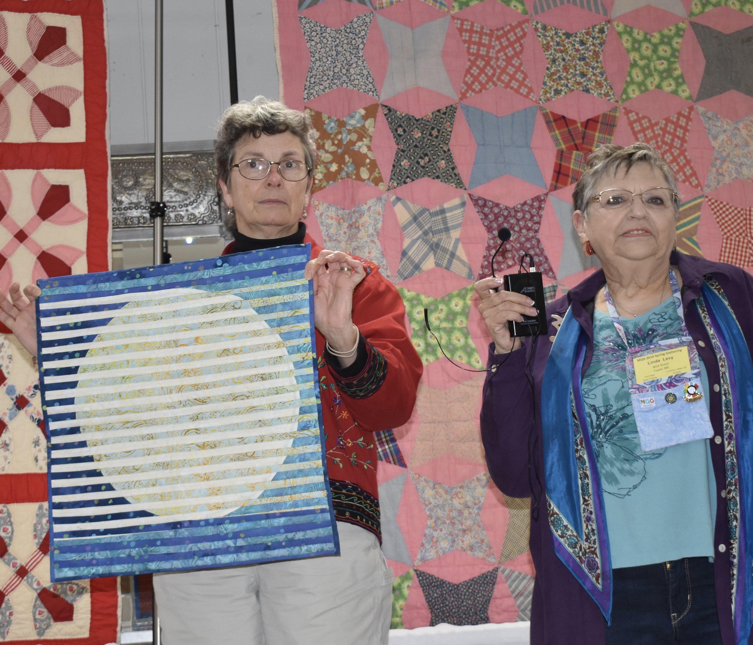 - Nancy also showed her interleave quilt.