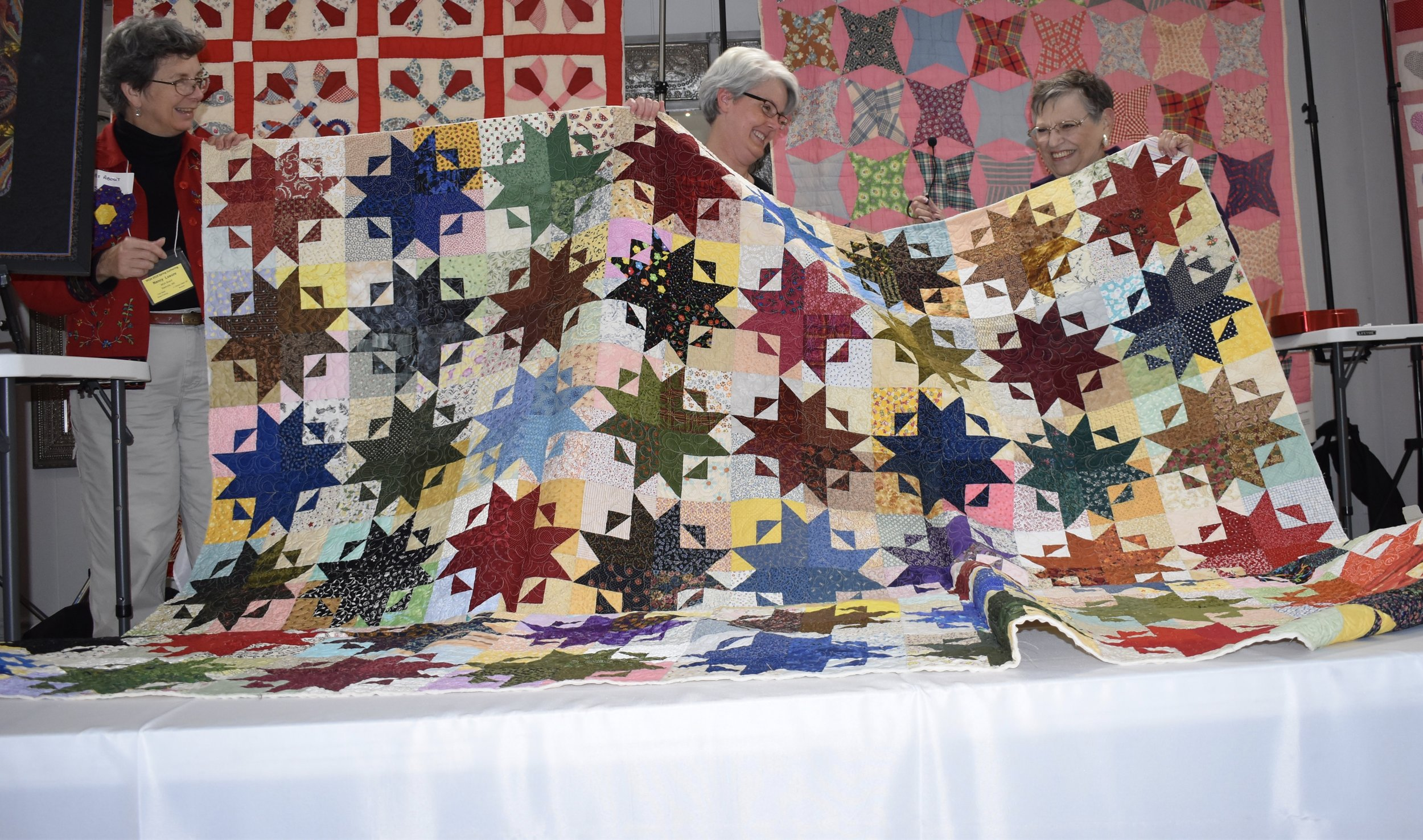 - Charlotte Taylor showed her Star Storm quilt made from the Northwind block.