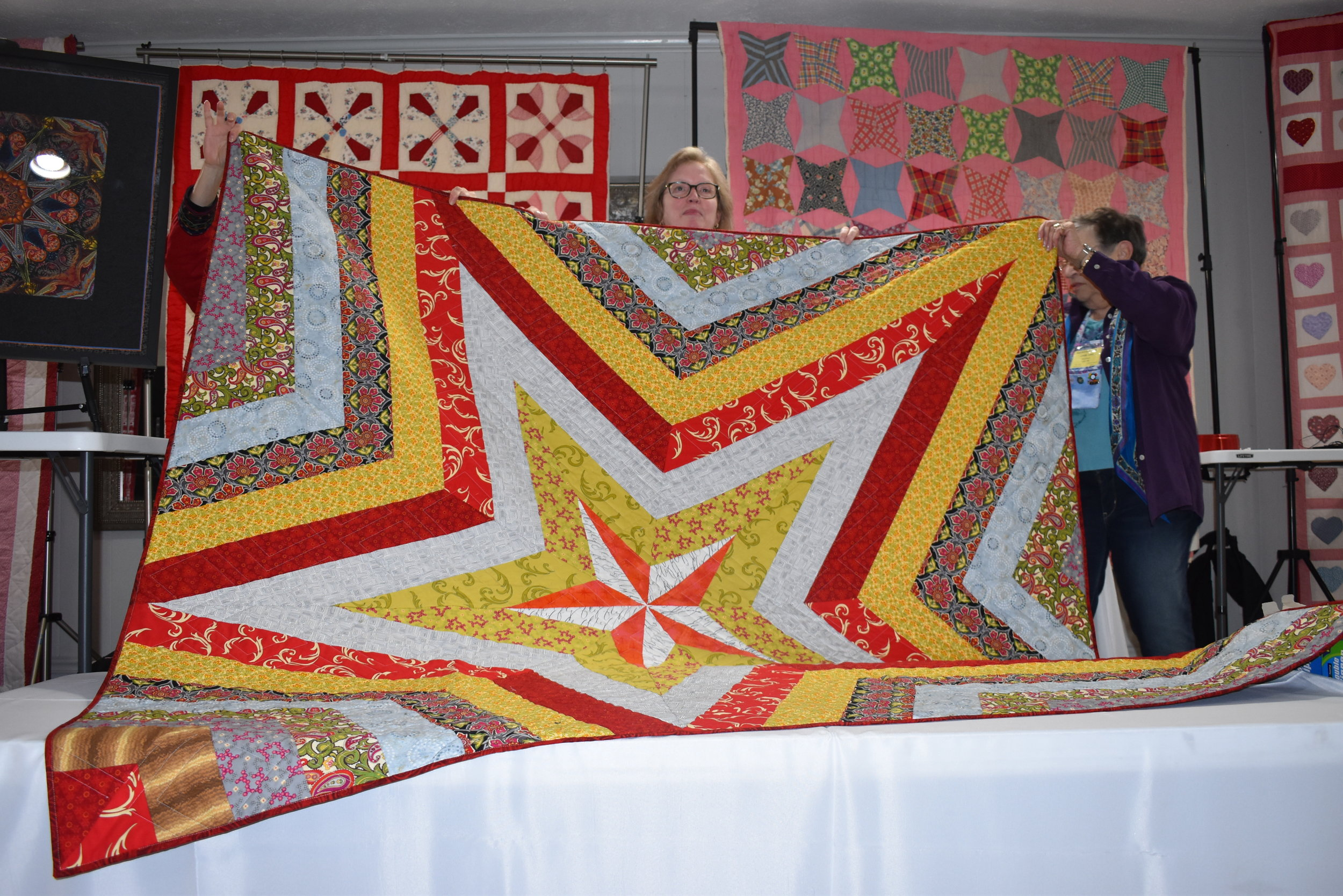 - Carol Punday showed this star quilt
