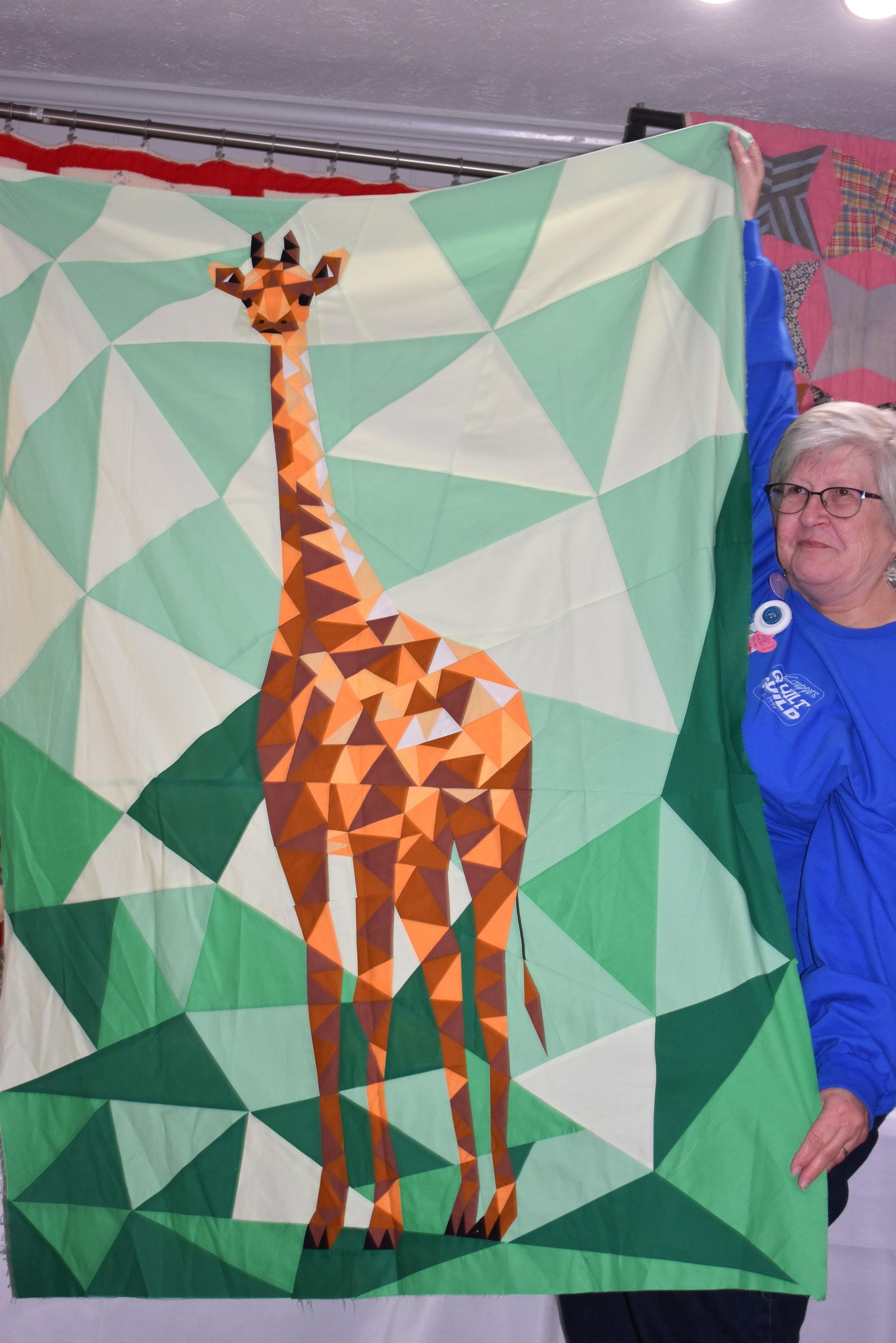 - Francine Vickers showed her Violet Craft Giraffe quilt top.
