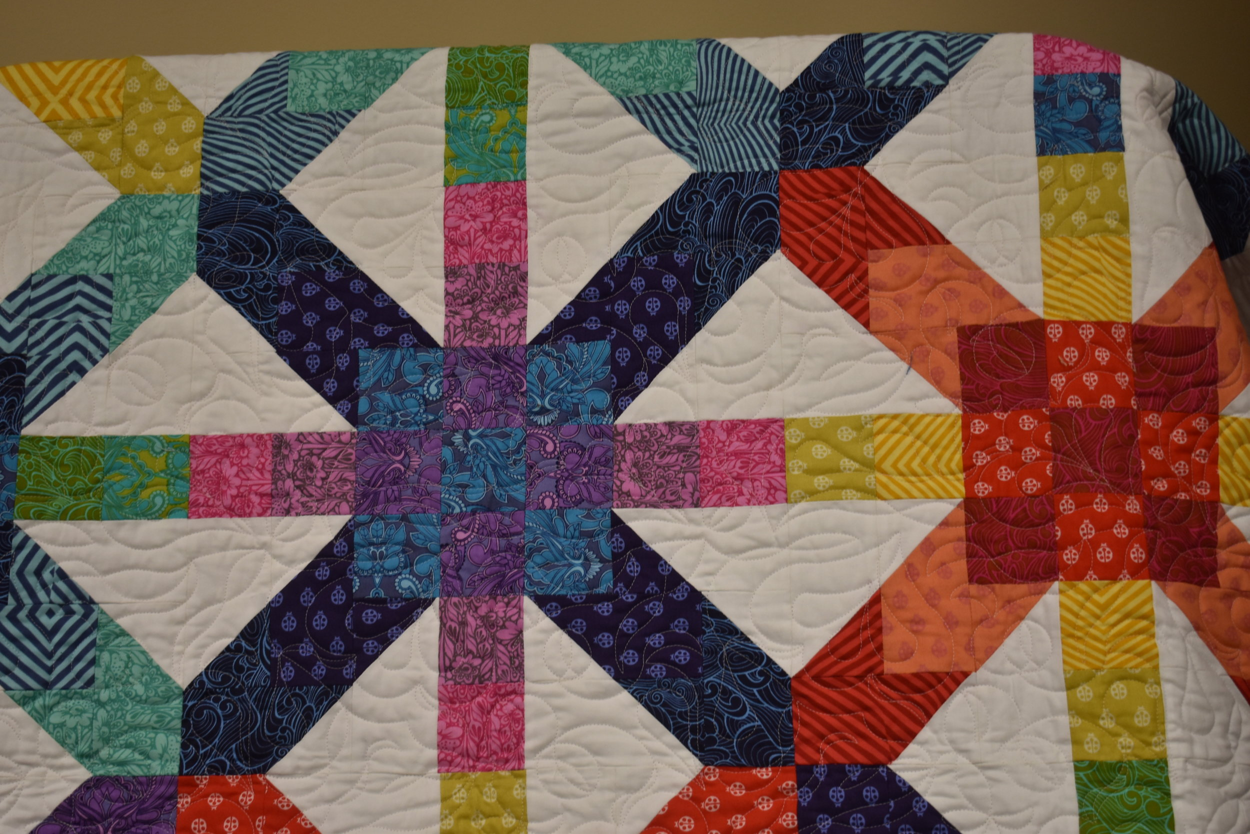 Quilt by Marilyn Rose - Supernova designed by Freshly Pieced