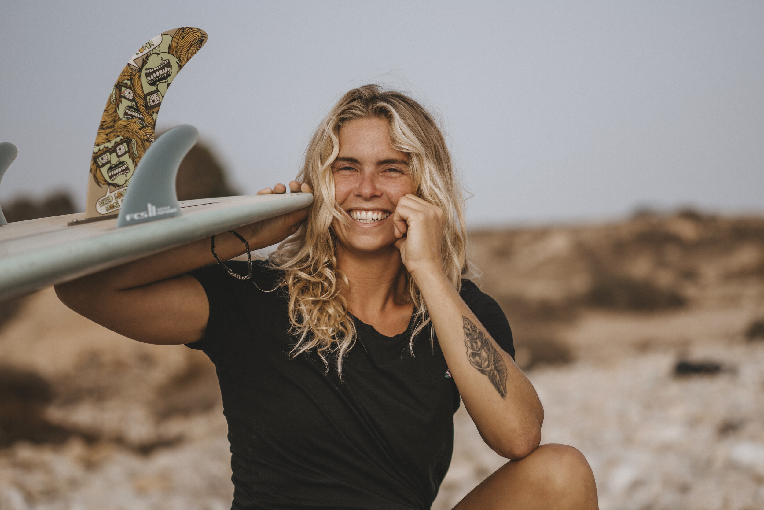 MAXIME VAN PASSEL FROM CHERNAKI SURF EXPERIENCE  Runs together with her partner a Surf Lodge in Morocco.