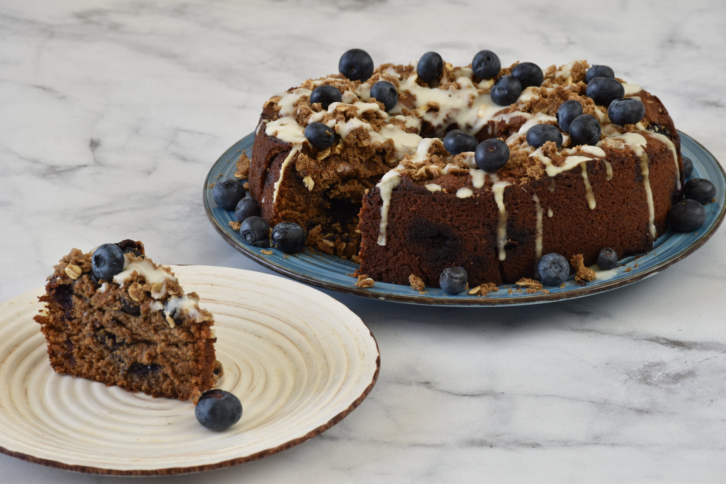 low carb blueberry muffin cake