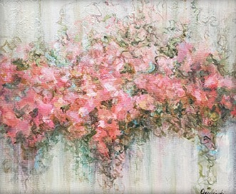 Alices Garden  Coral Pink Spring Lisa Opielinski