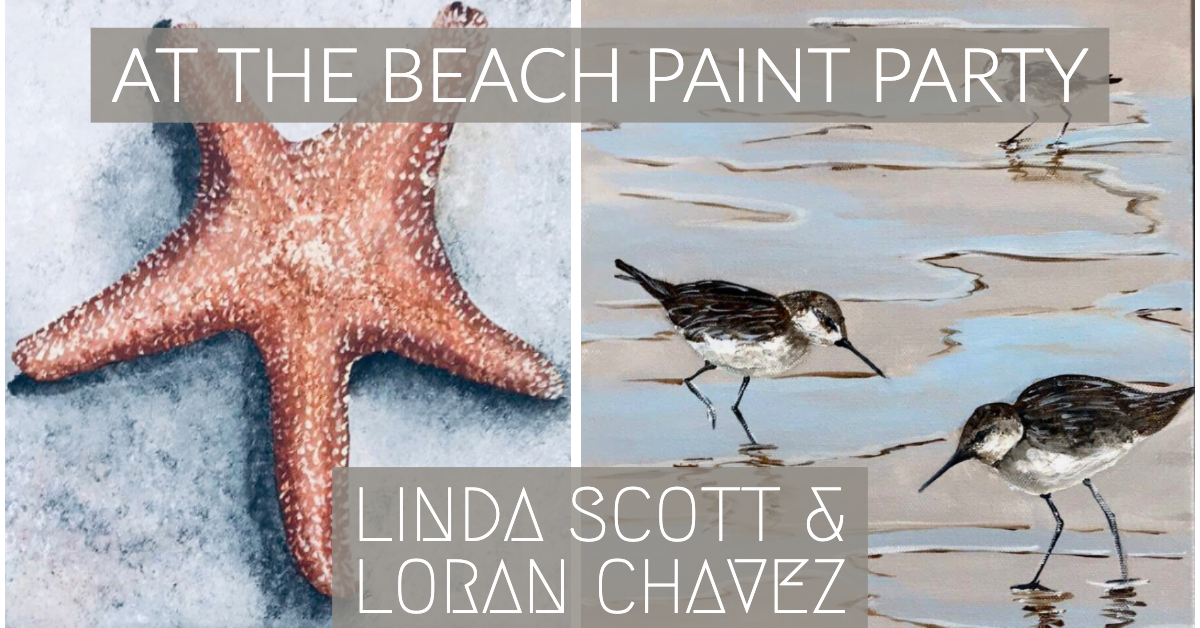 At the Beach Paint Party at Stewart Heath Gallery