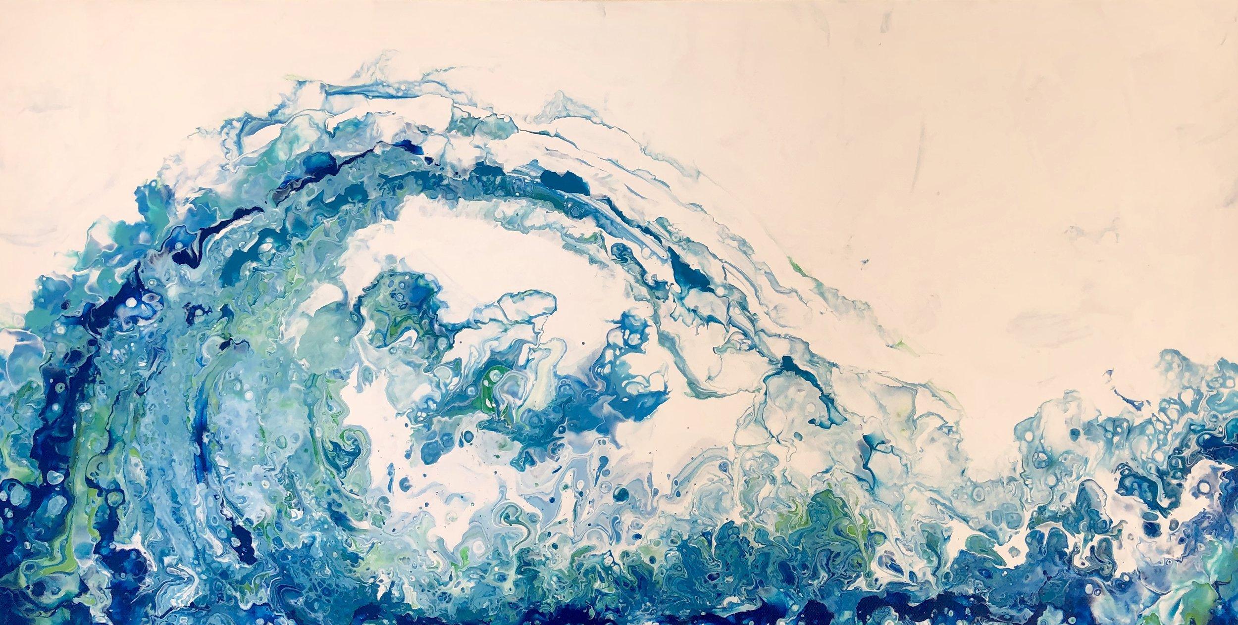 Wave Acrylic Pour