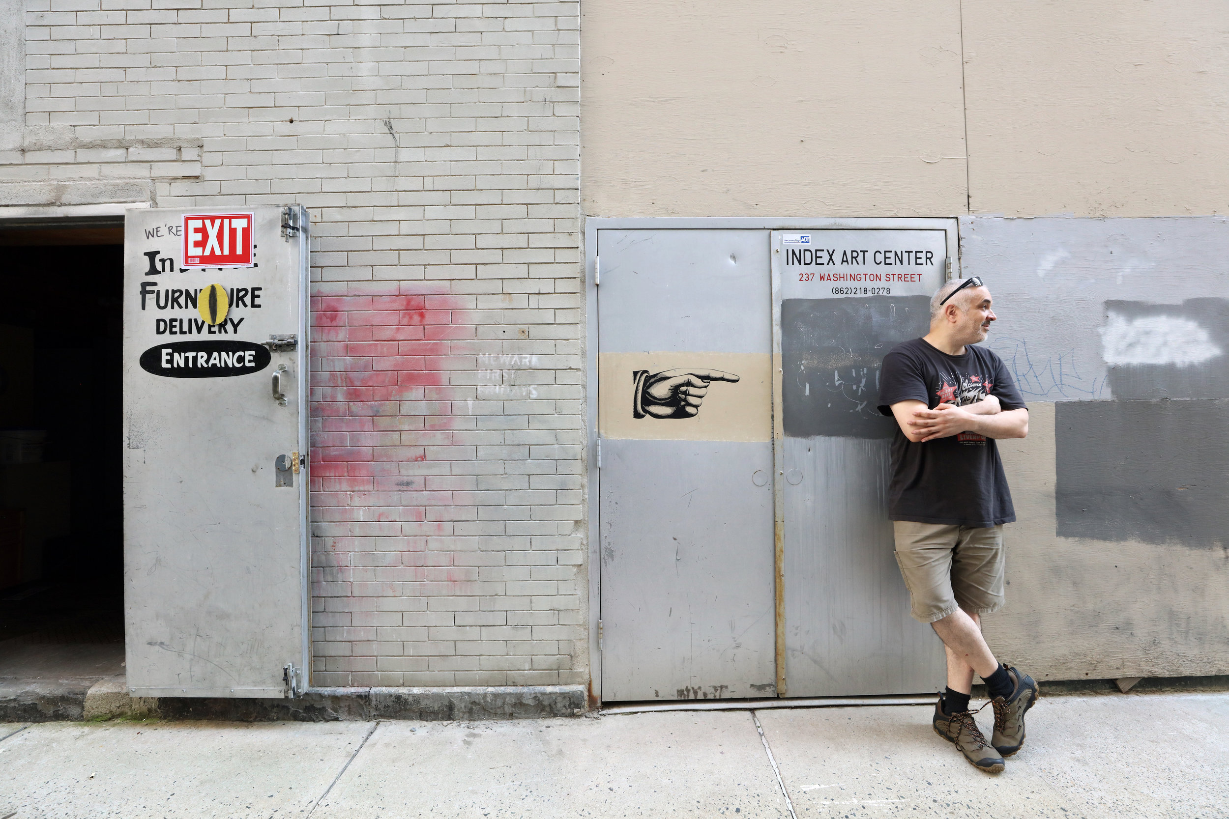 Index Art Center's co-director Lowell Craig stands in front of the building that houses IAC's gallery, event space and residencies  |  Photo Credit: Anthony Alvarez