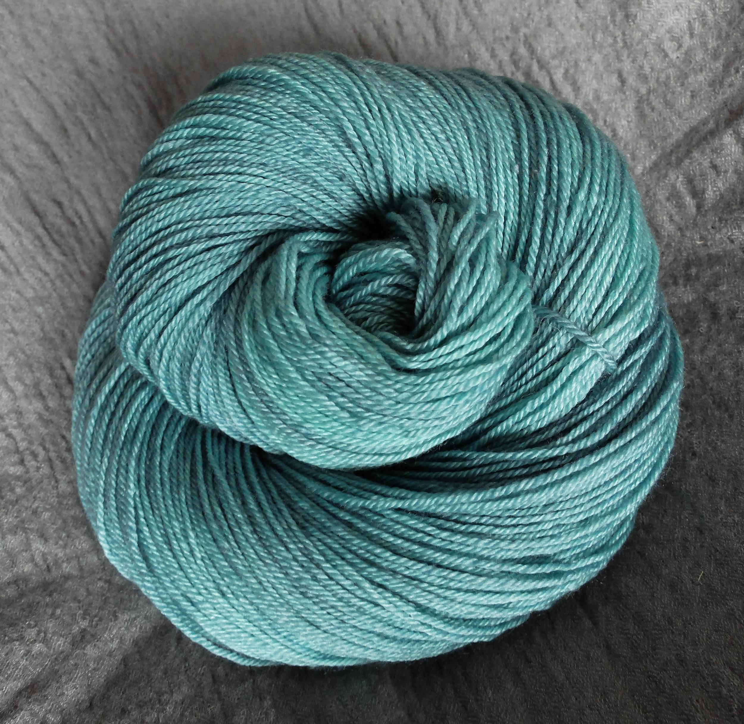 Volva shown on Fingering - BFL/Silk/Cashmere