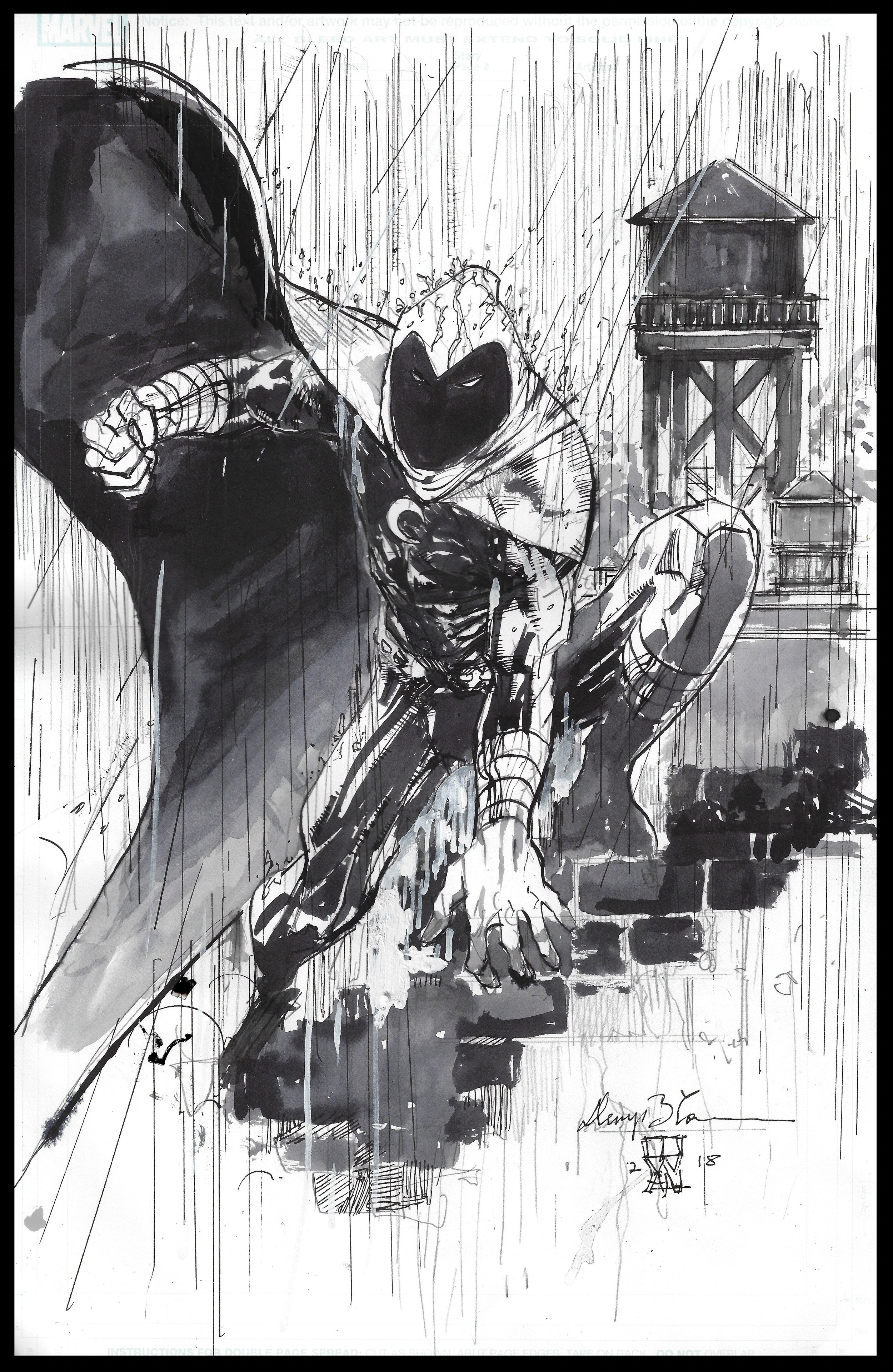 Moon Knight - Commission - Pen & Ink