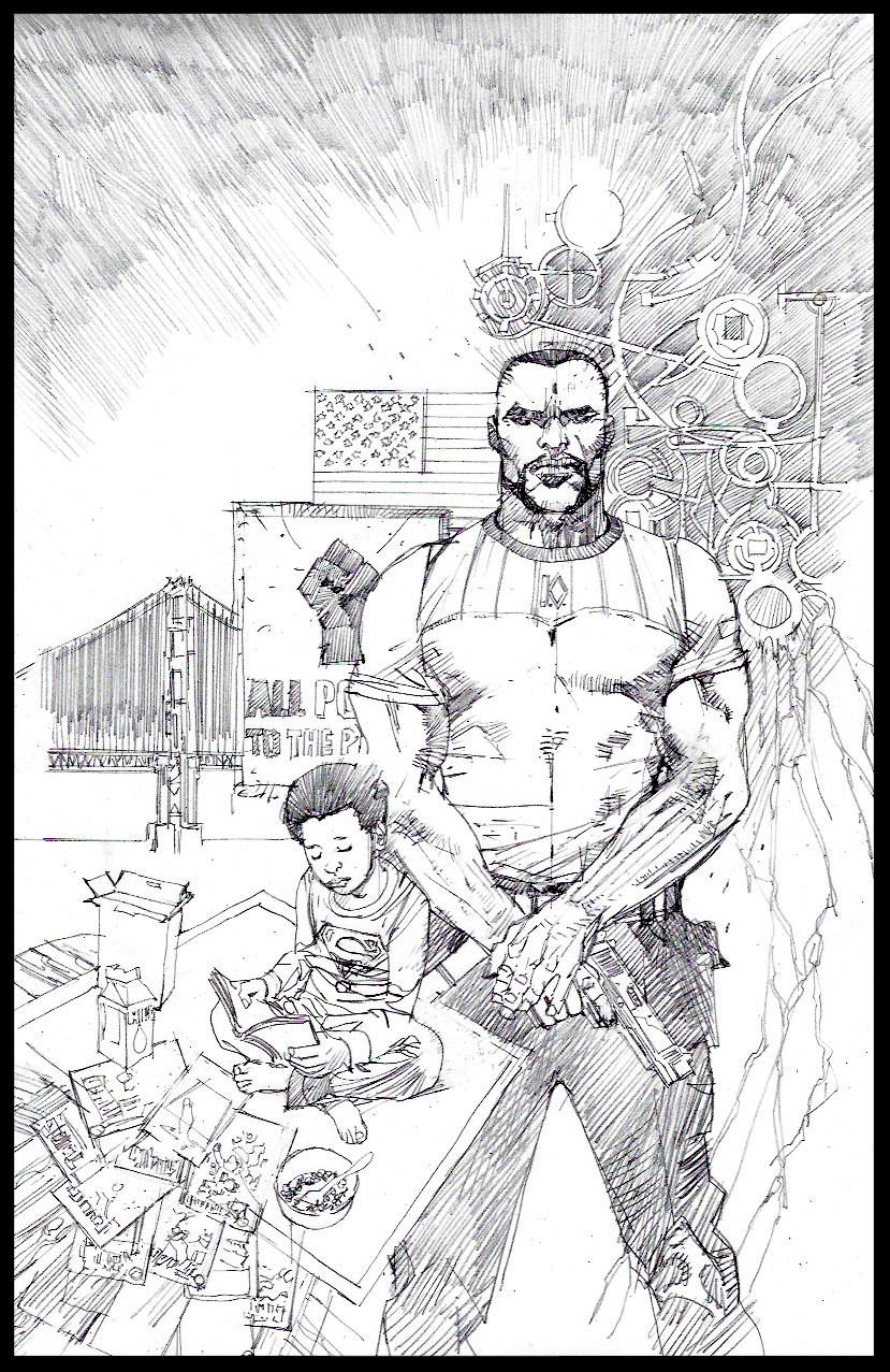 Michael Cray #1 - Cover - Pencils