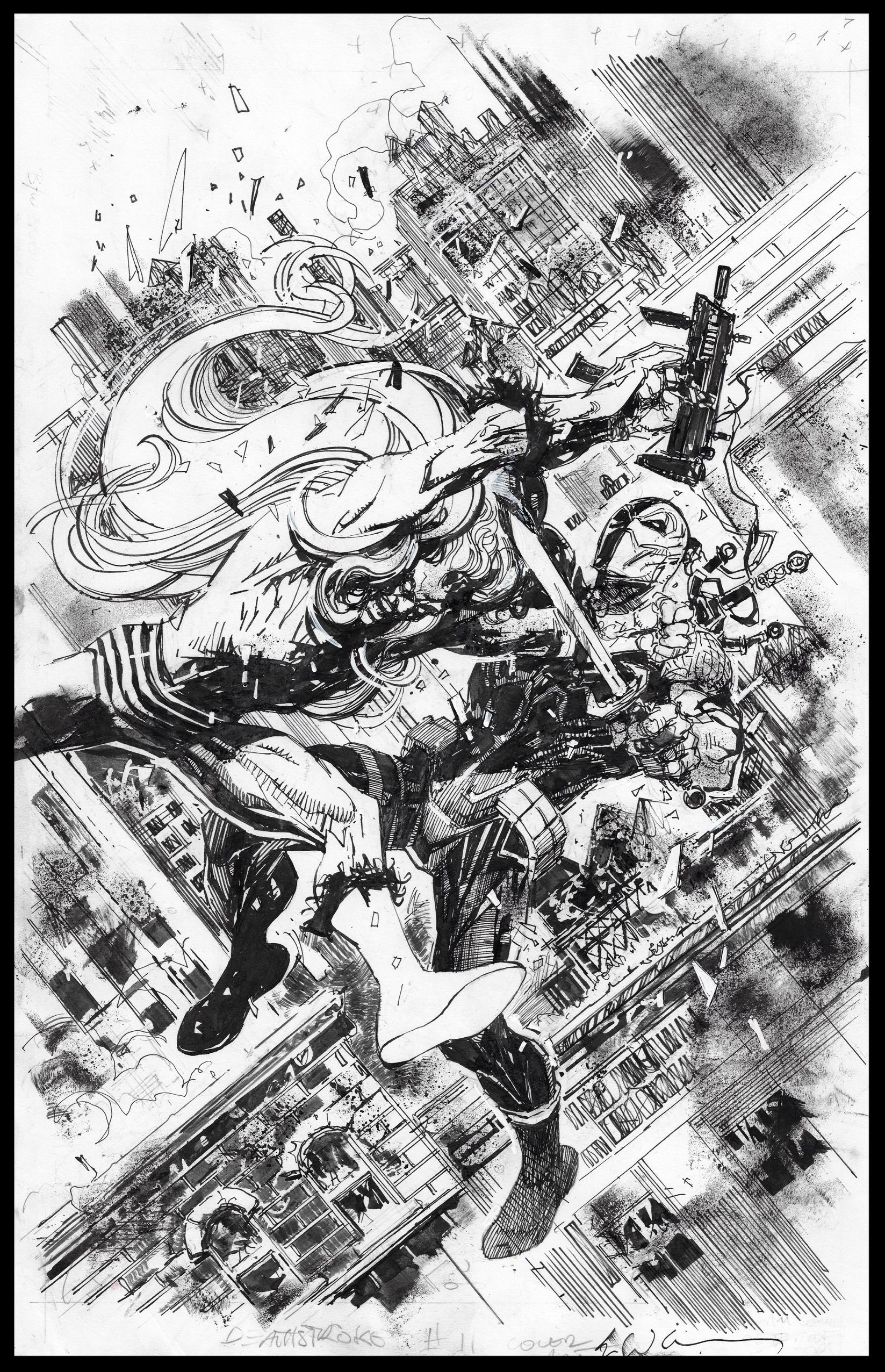 Deathstroke #11 - Cover - Pencils & Inks