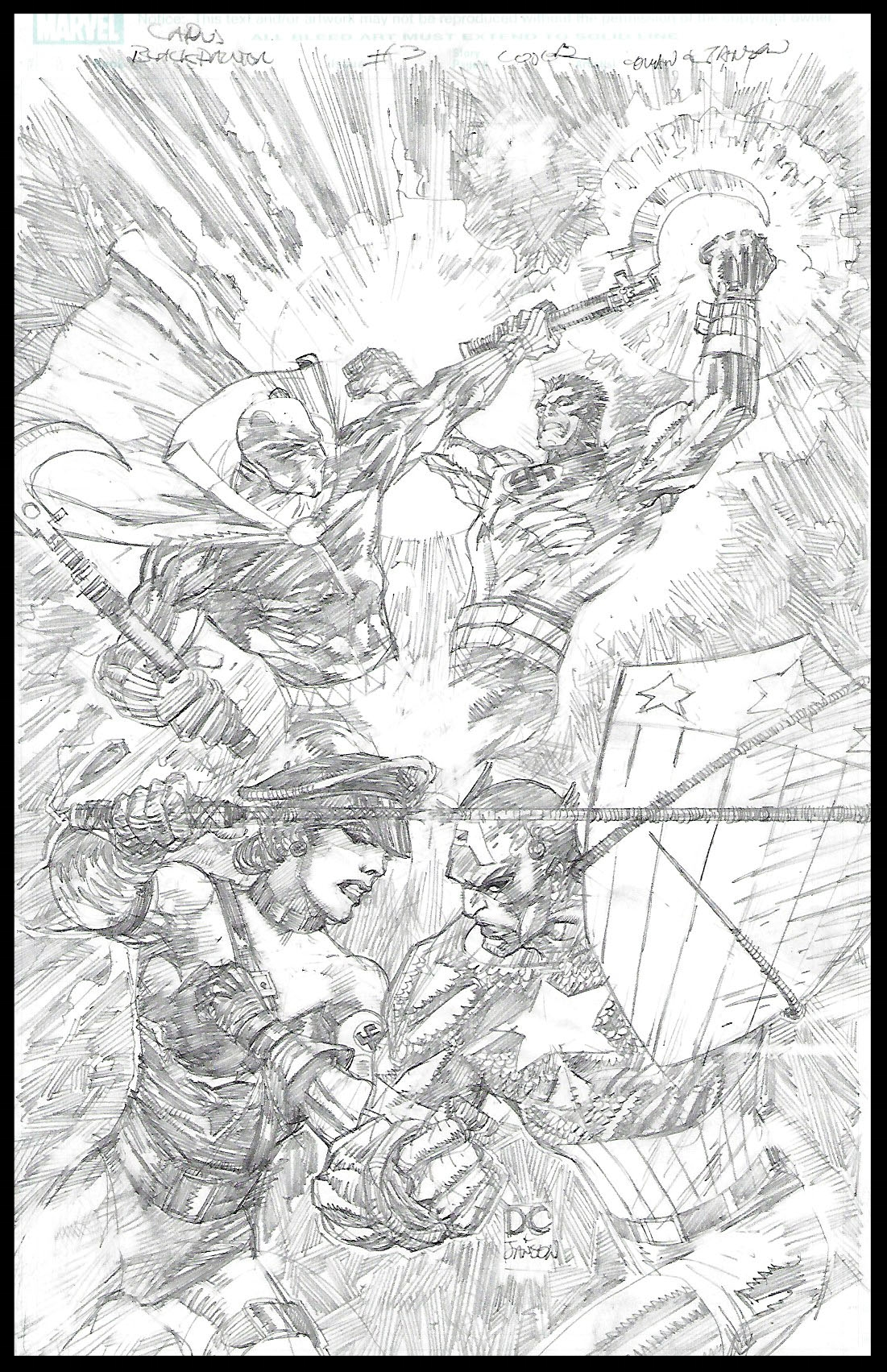 Flags of Our Fathers #3 - Cover - Pencils