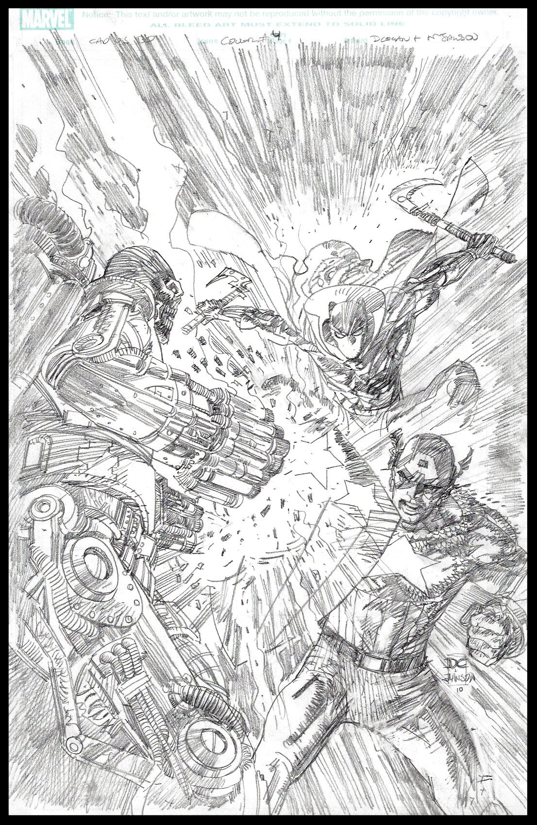 Flags of Our Fathers #4 - Cover - Pencils