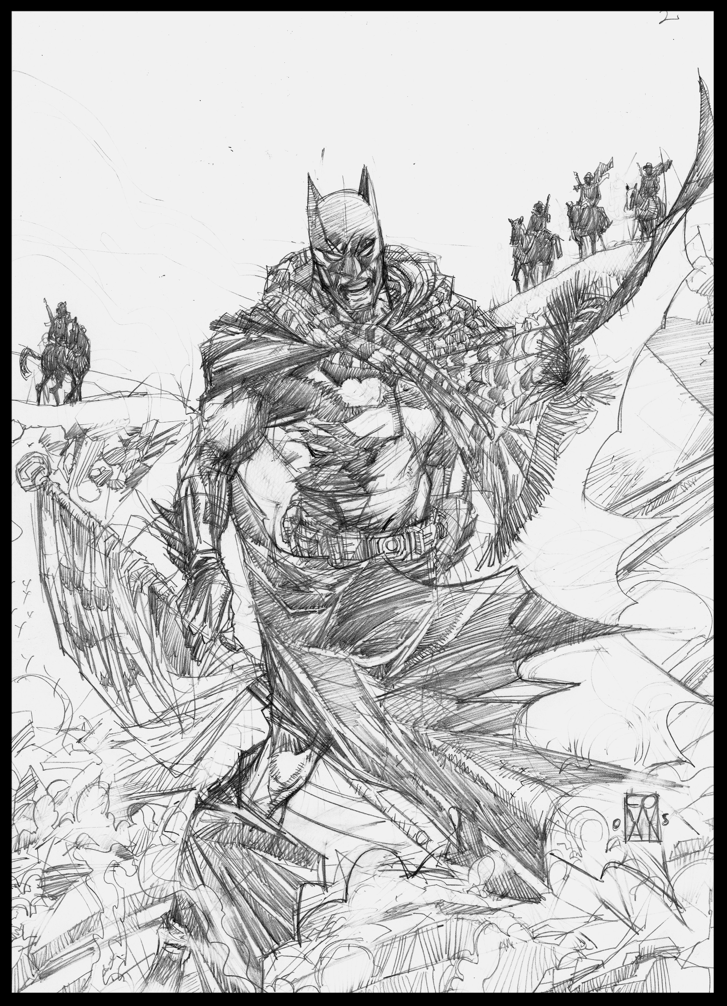 Batman: Ducard's War (unpublished) - Cover (detail) - Pencils