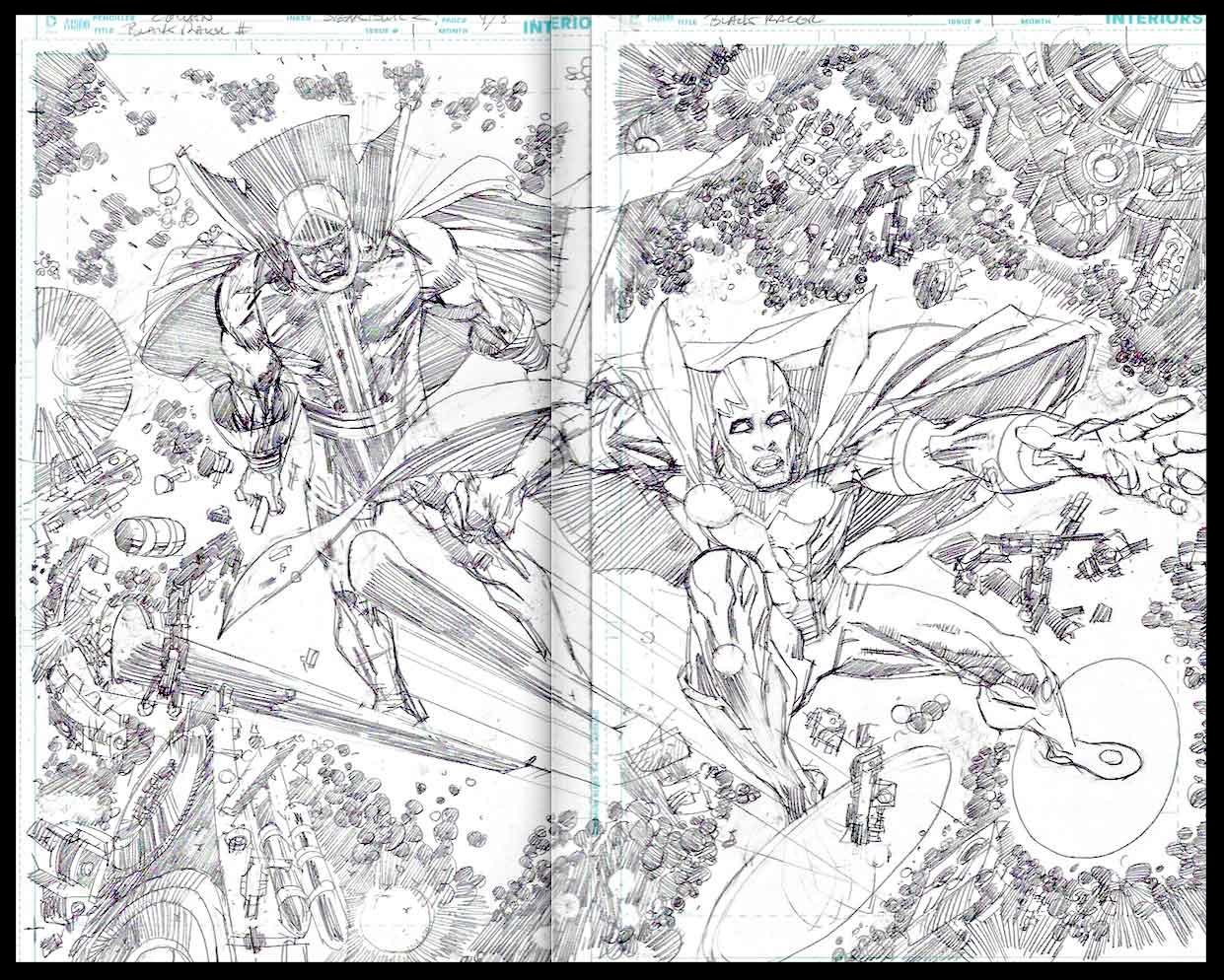 Black Racer #1 - Pages 4-5 - Pencils