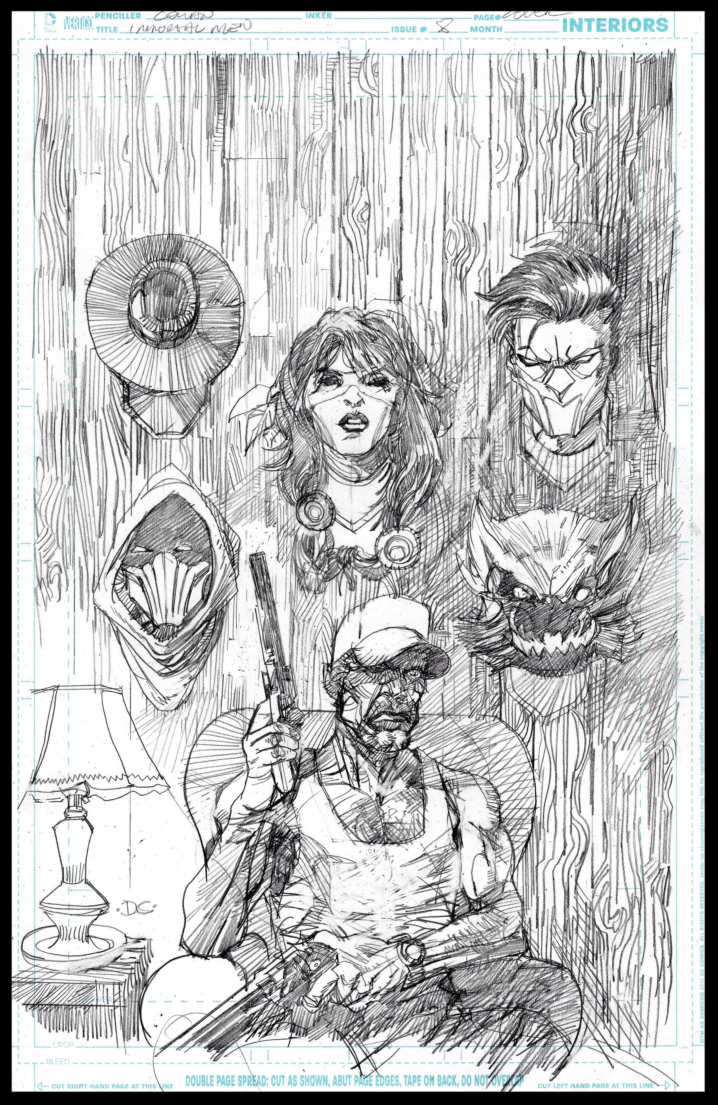 Immortal Men #8 (unpublished) - Cover - Pencils