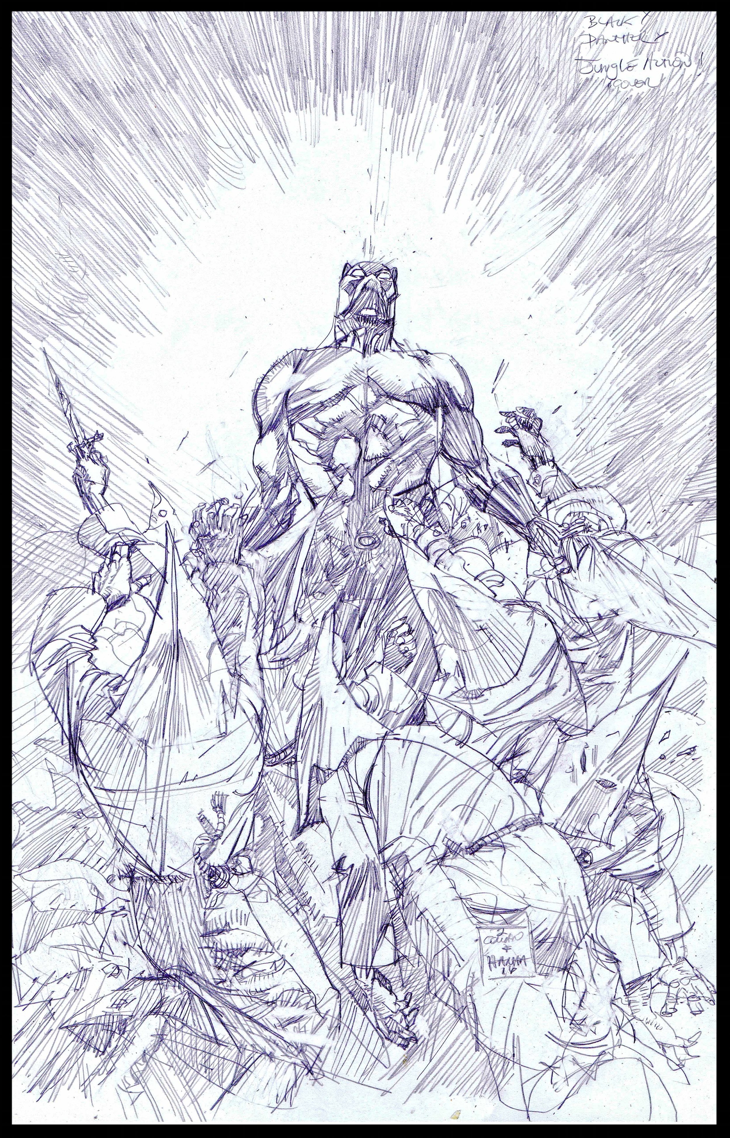 Black Panther: Jungle Action Collected Edition - Cover - Pencils