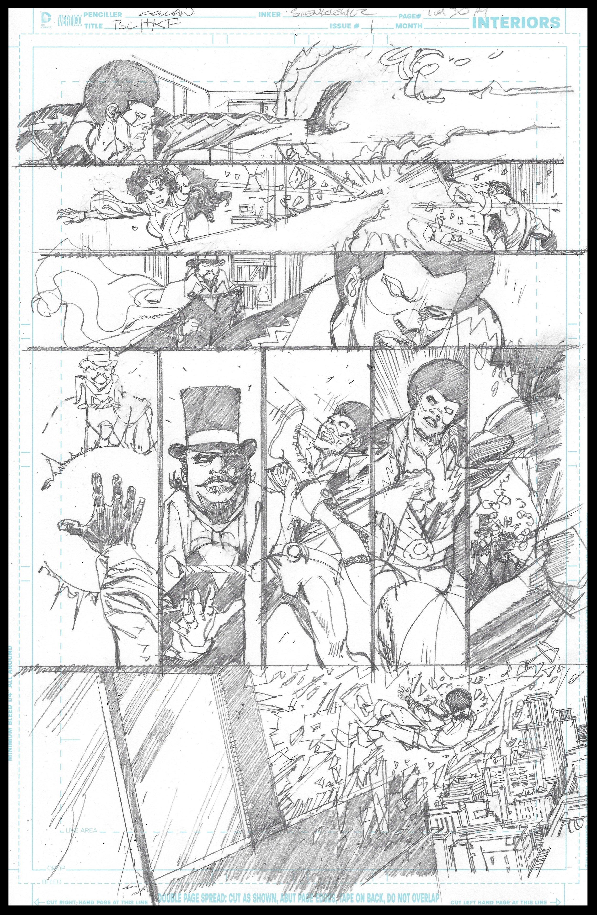 Black Lightning-Hong Kong Phooey #1 - Page 1 - Pencils