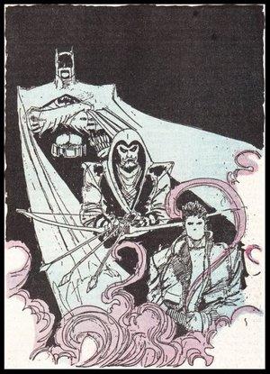 Batman, Arrow & The Question - Poster Sketch - Pen & Ink