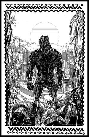 Black Panther - Mondo Poster - Pencils & Inks