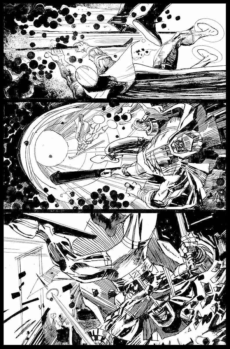 Black Racer #1 - Page 14 - Pencils & Inks