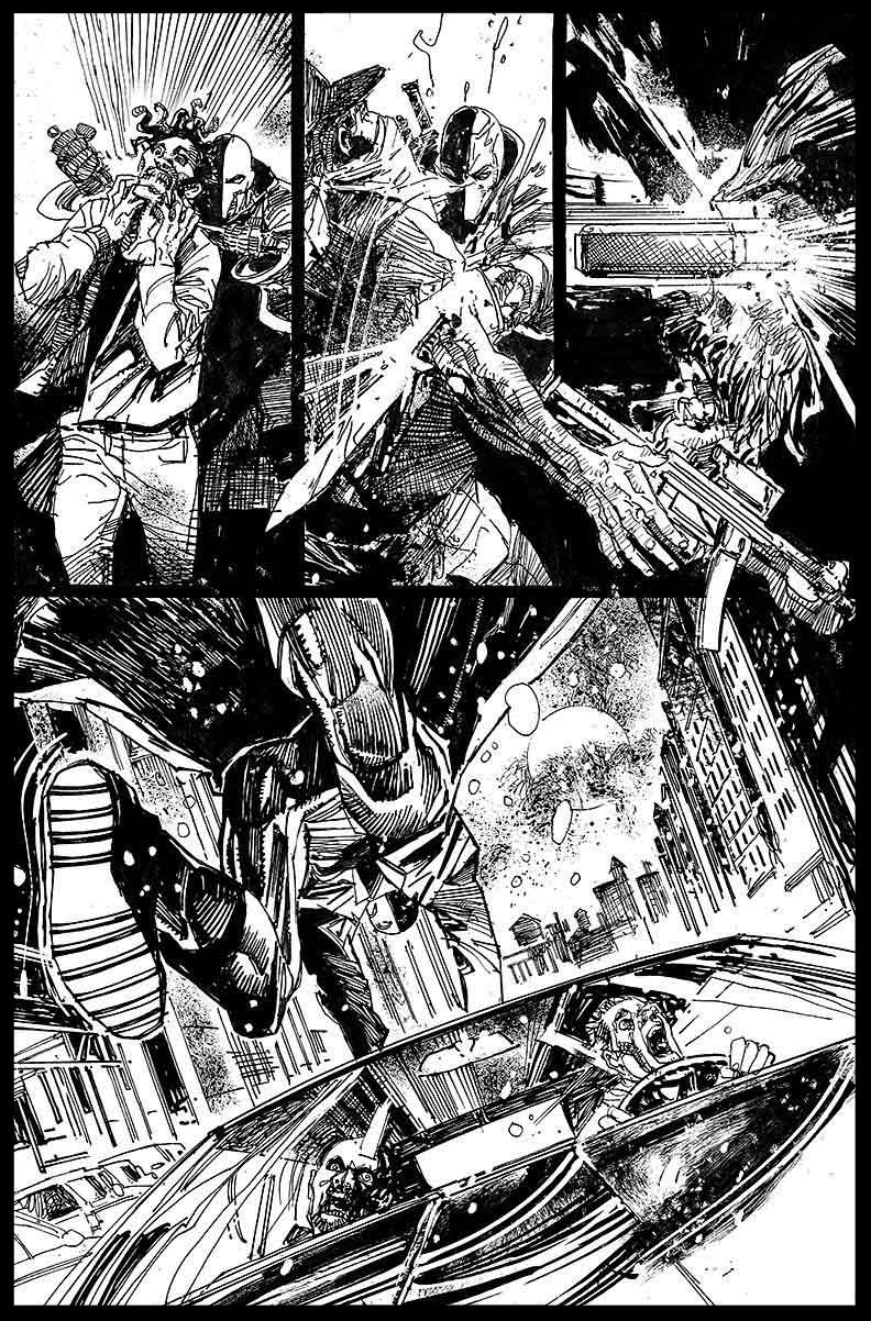 Deathstroke #11 - Page 5 - Pencils & Inks