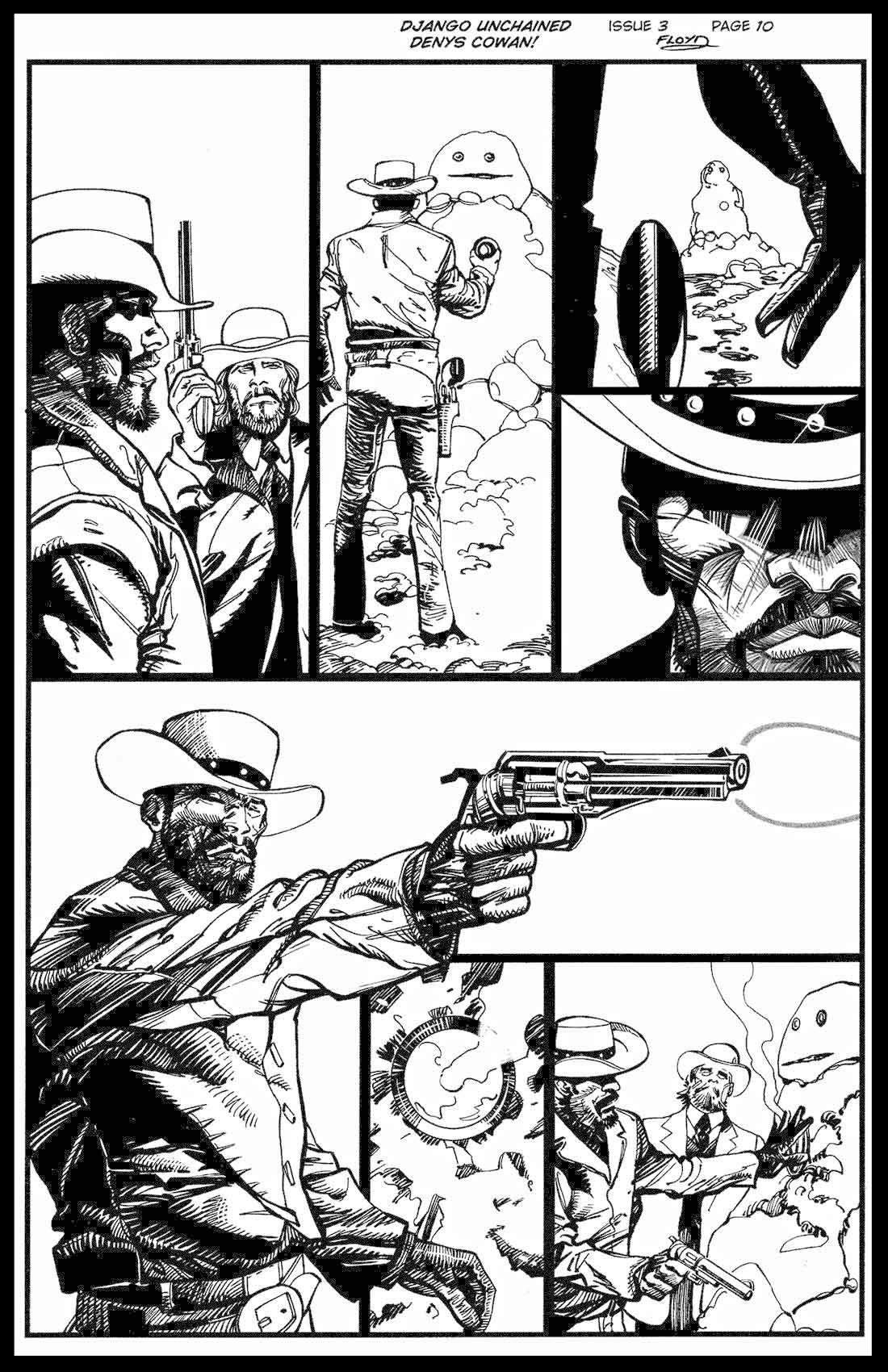 Django Unchained #3 - Page 10 - Pencils & Inks
