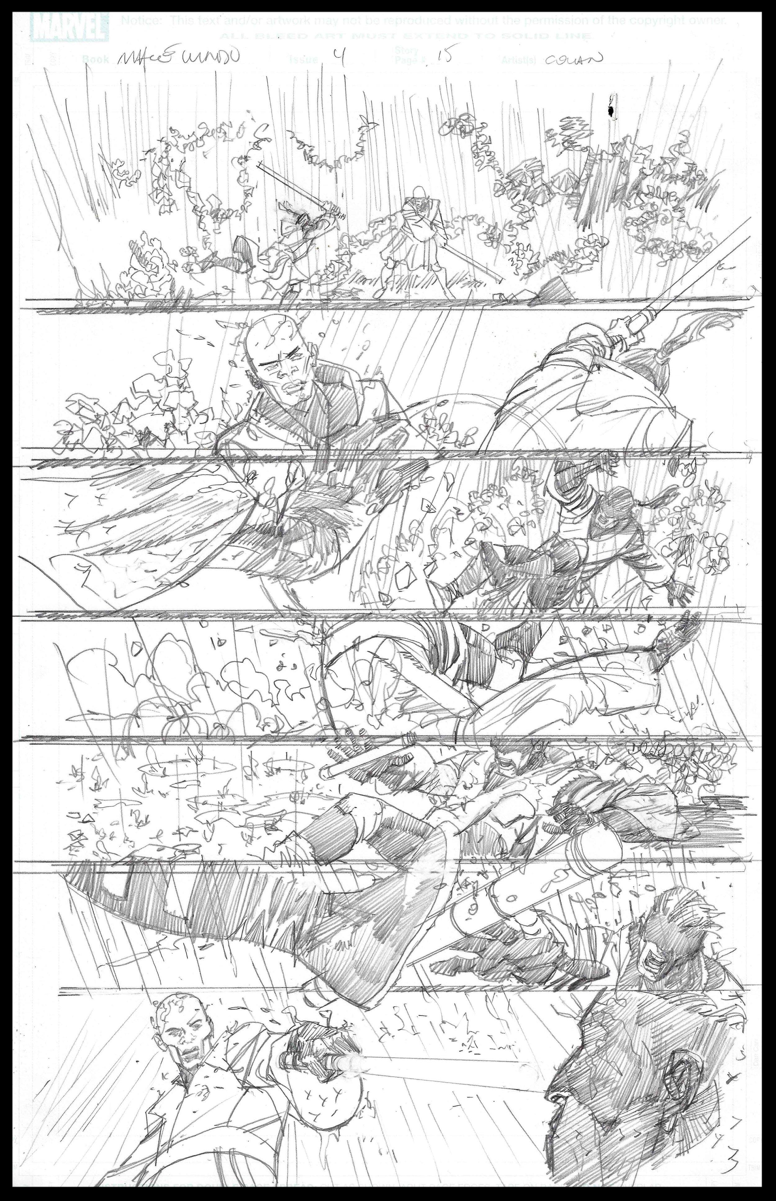 Mace Windu #4 - Page 15 - Pencils