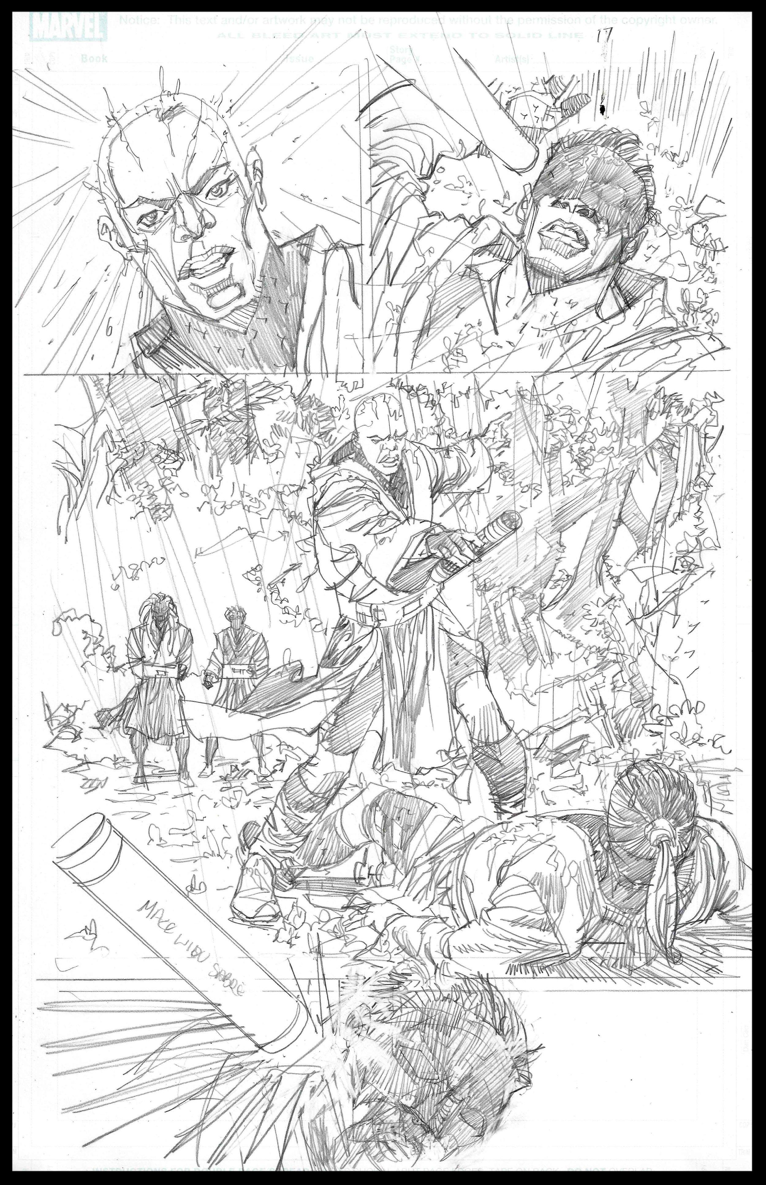 Mace Windu #4 - Page 17 - Pencils