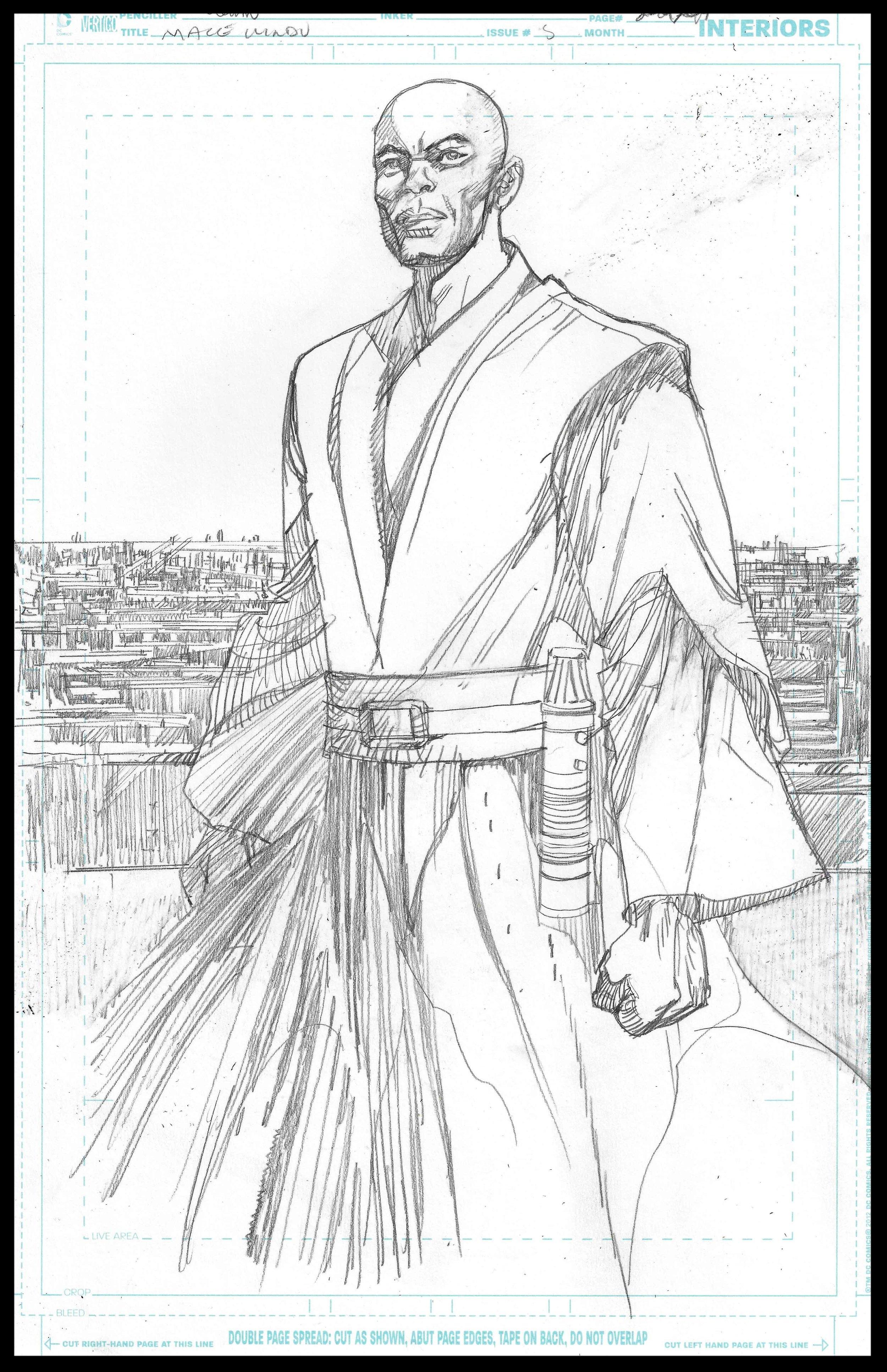 Mace Windu #5 - Page 20 - Pencils