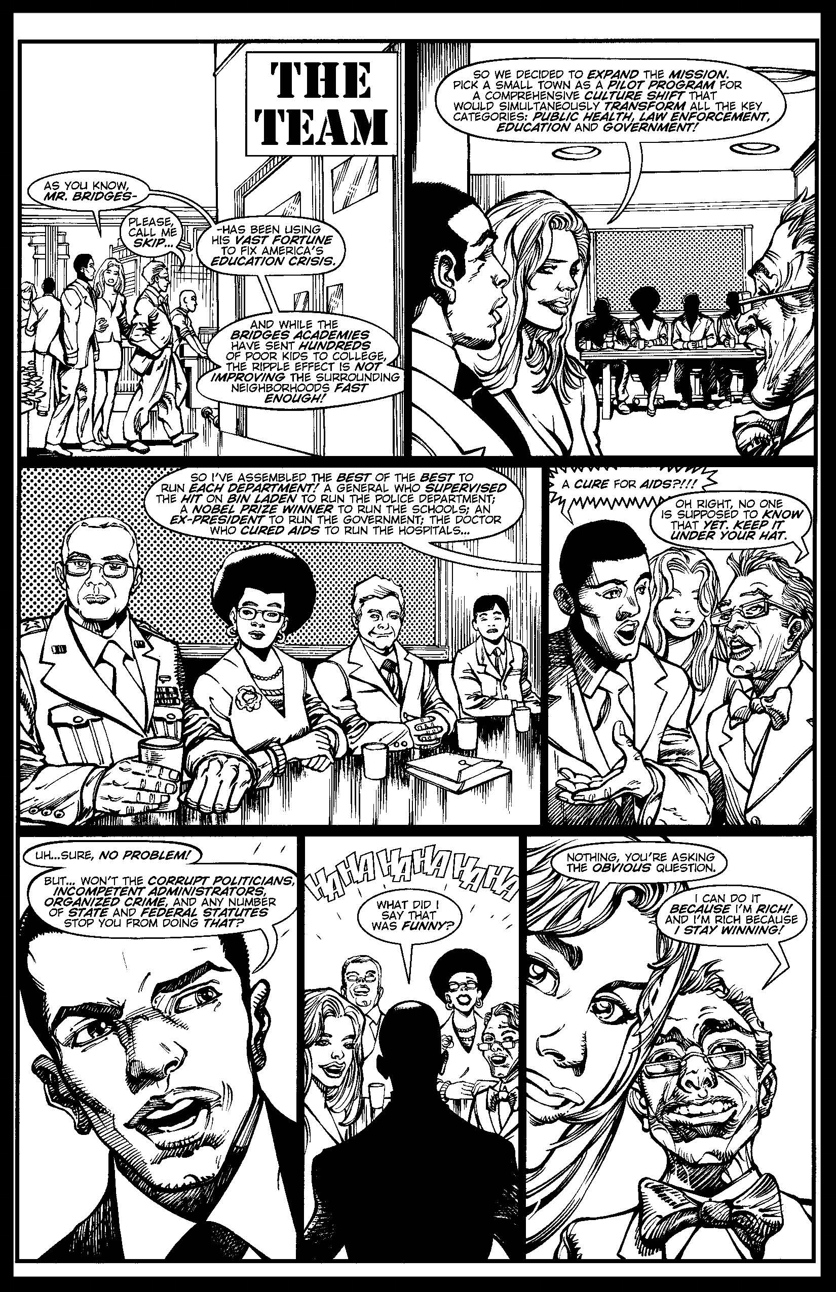 You Can't Handle The Truth #5 - Monthly Strip for Ebony - Pencils & Inks