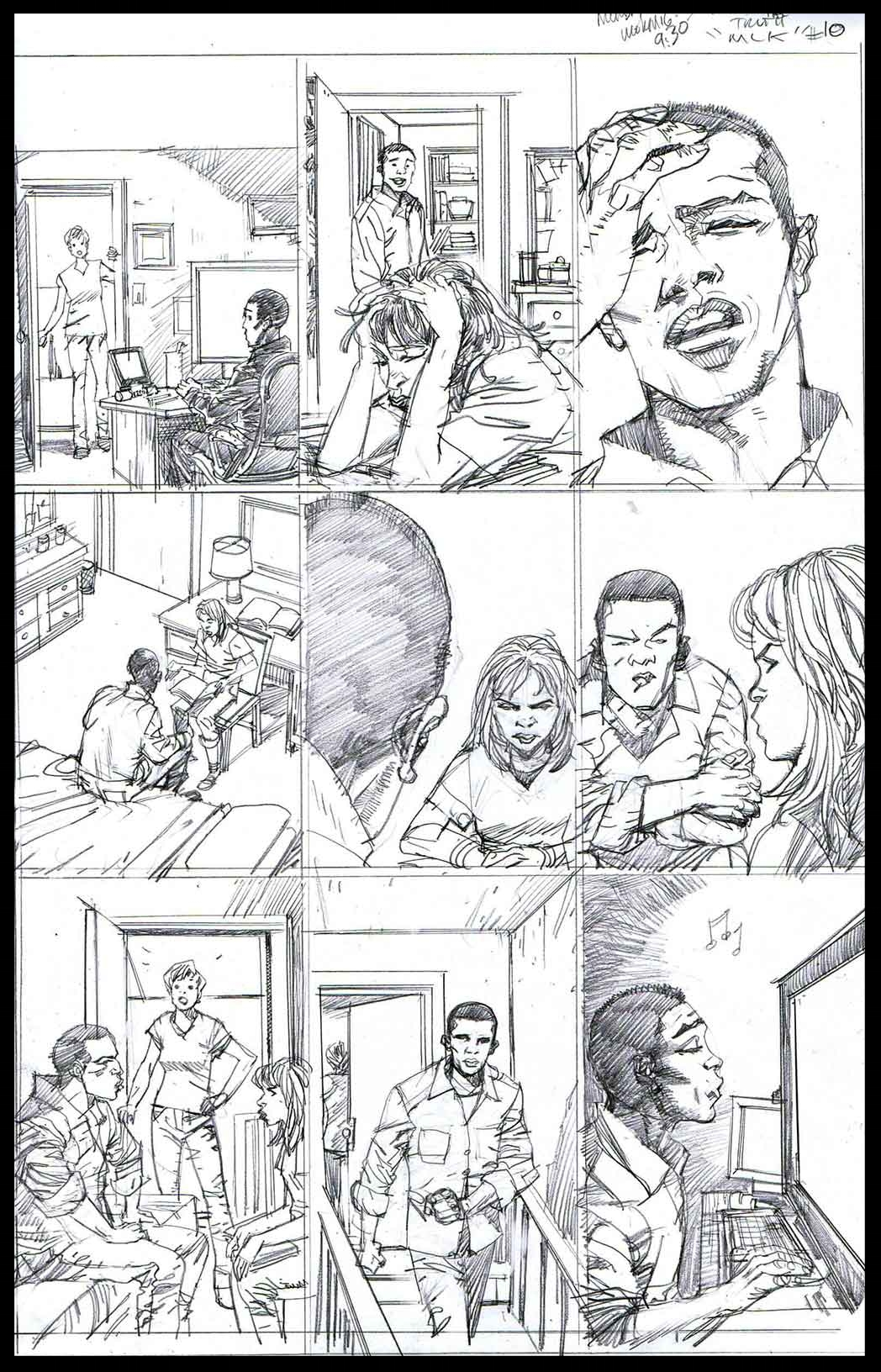 You Can't Handle The Truth #10 - Monthly Strip for Ebony - Pencils