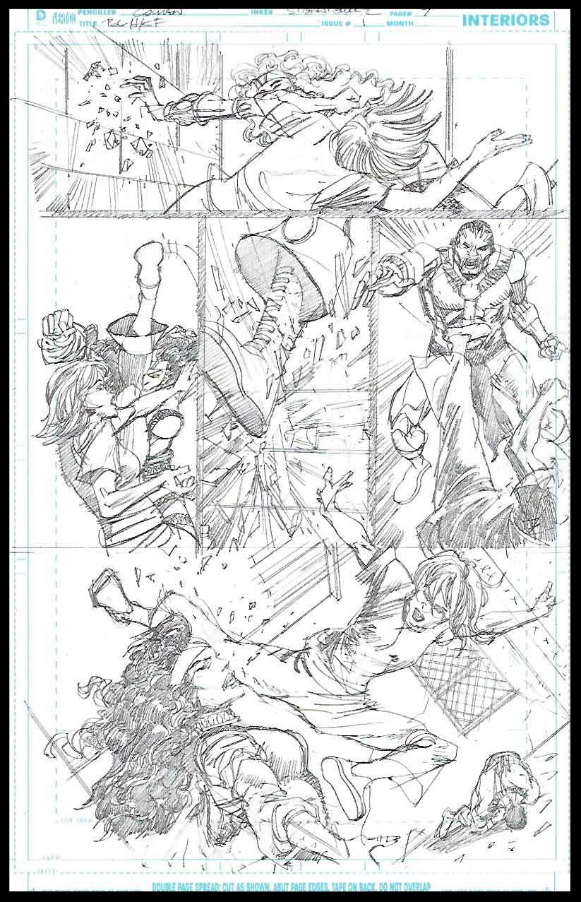 Black Lightning-Hong Kong Phooey #1 - Page 7 - Pencils